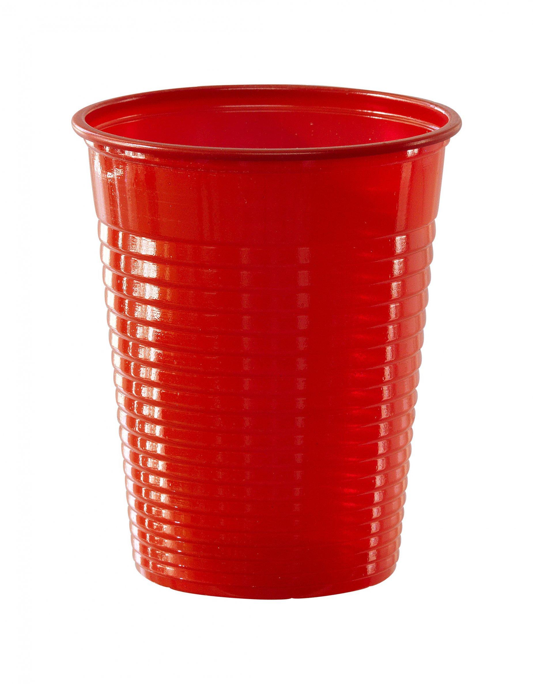50 rote plastikbecher partydeko und g nstige faschingskost me vegaoo. Black Bedroom Furniture Sets. Home Design Ideas