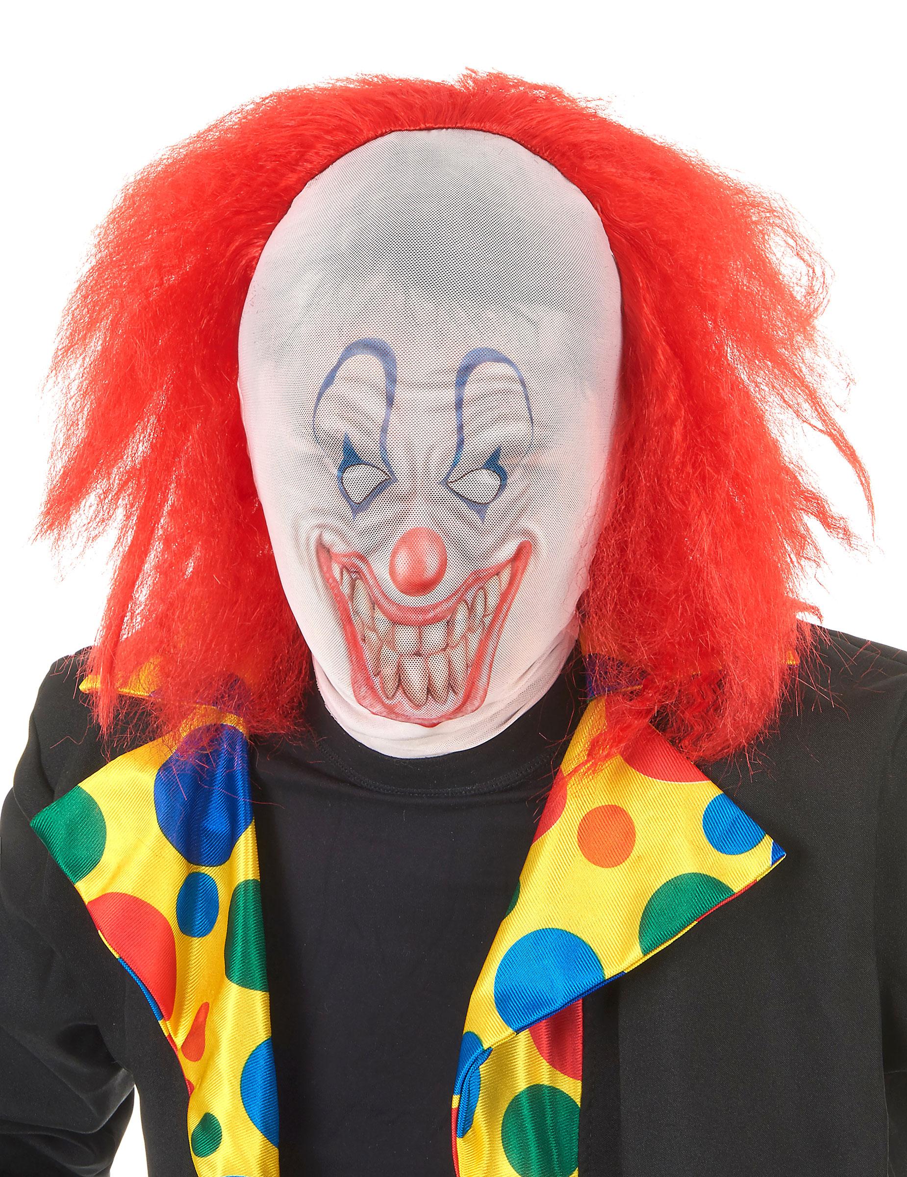 Halloween Clown mit Perücke für Erwachsene 154337