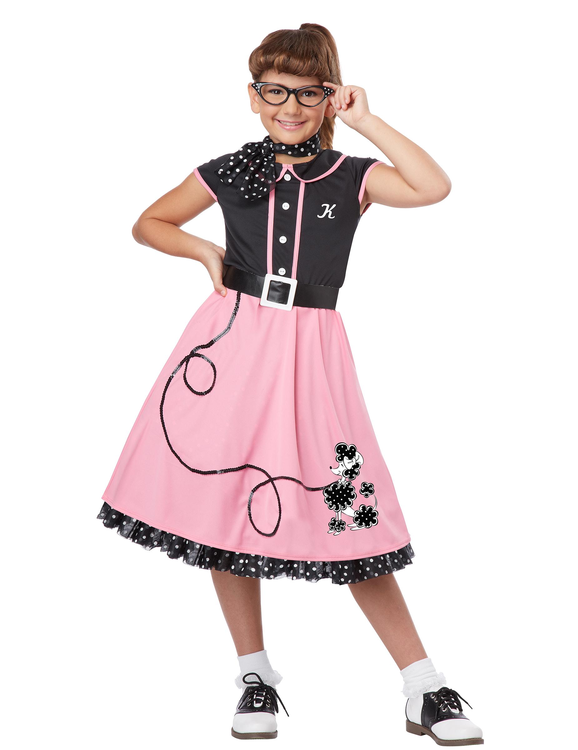 tolles 50er jahre outfit ksot m f r m dchen mit stickern. Black Bedroom Furniture Sets. Home Design Ideas