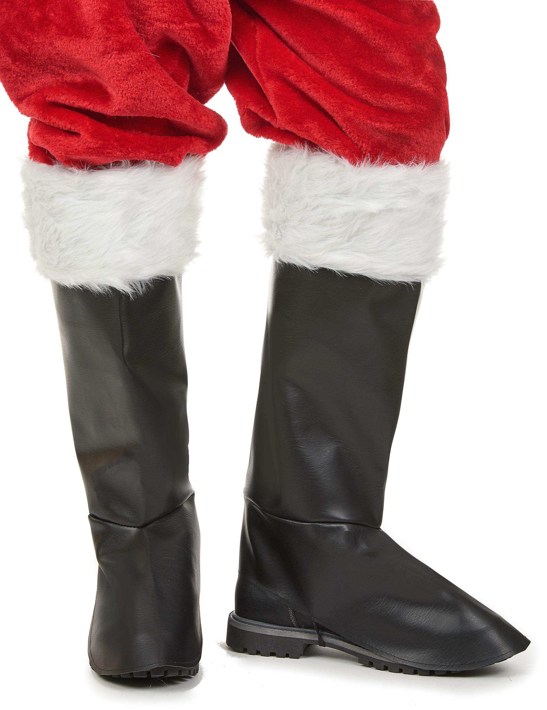 Schwarze Überstiefel für Weihnachtsmänner 155240