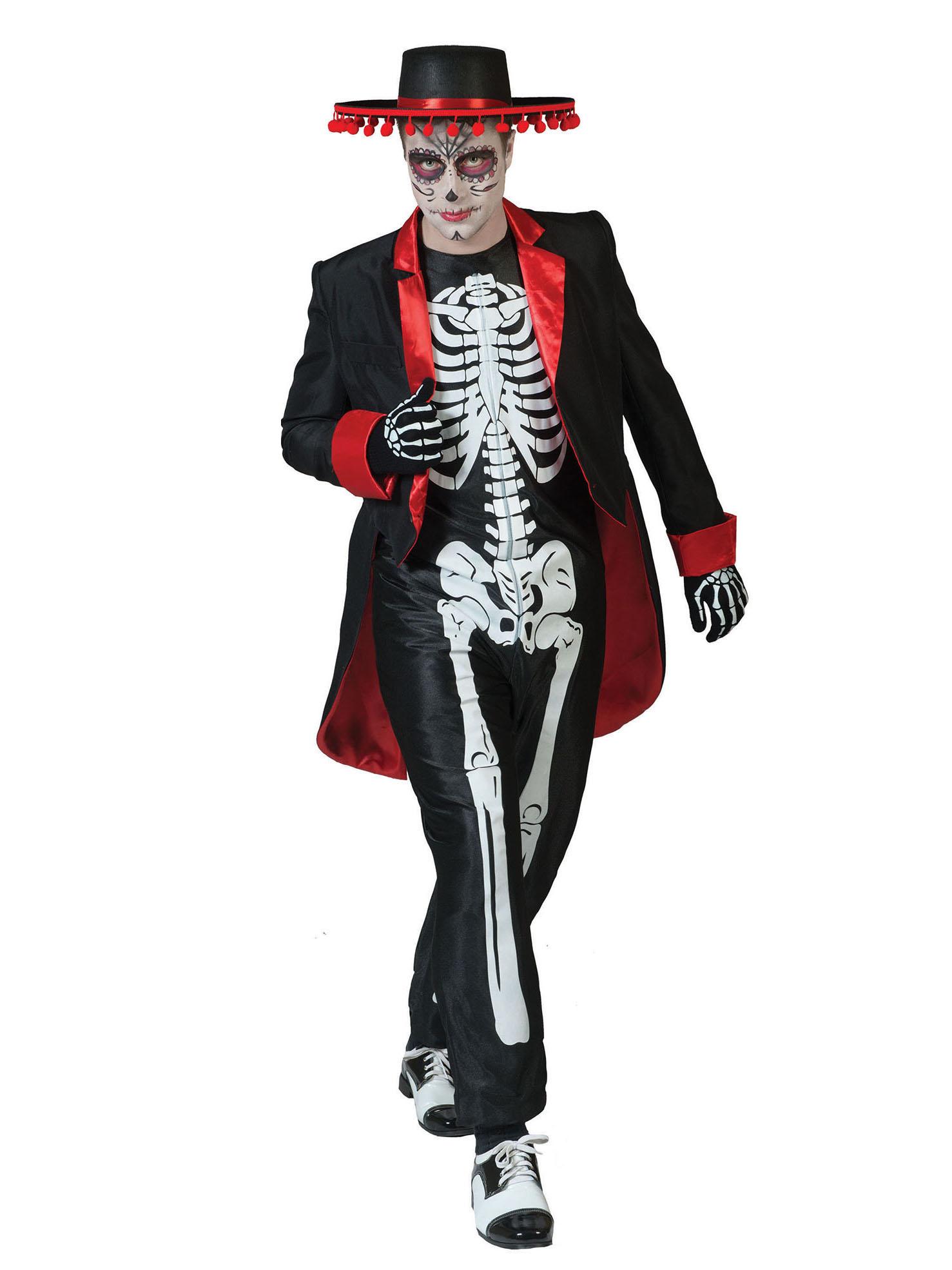 halloween costumes neon skeleton