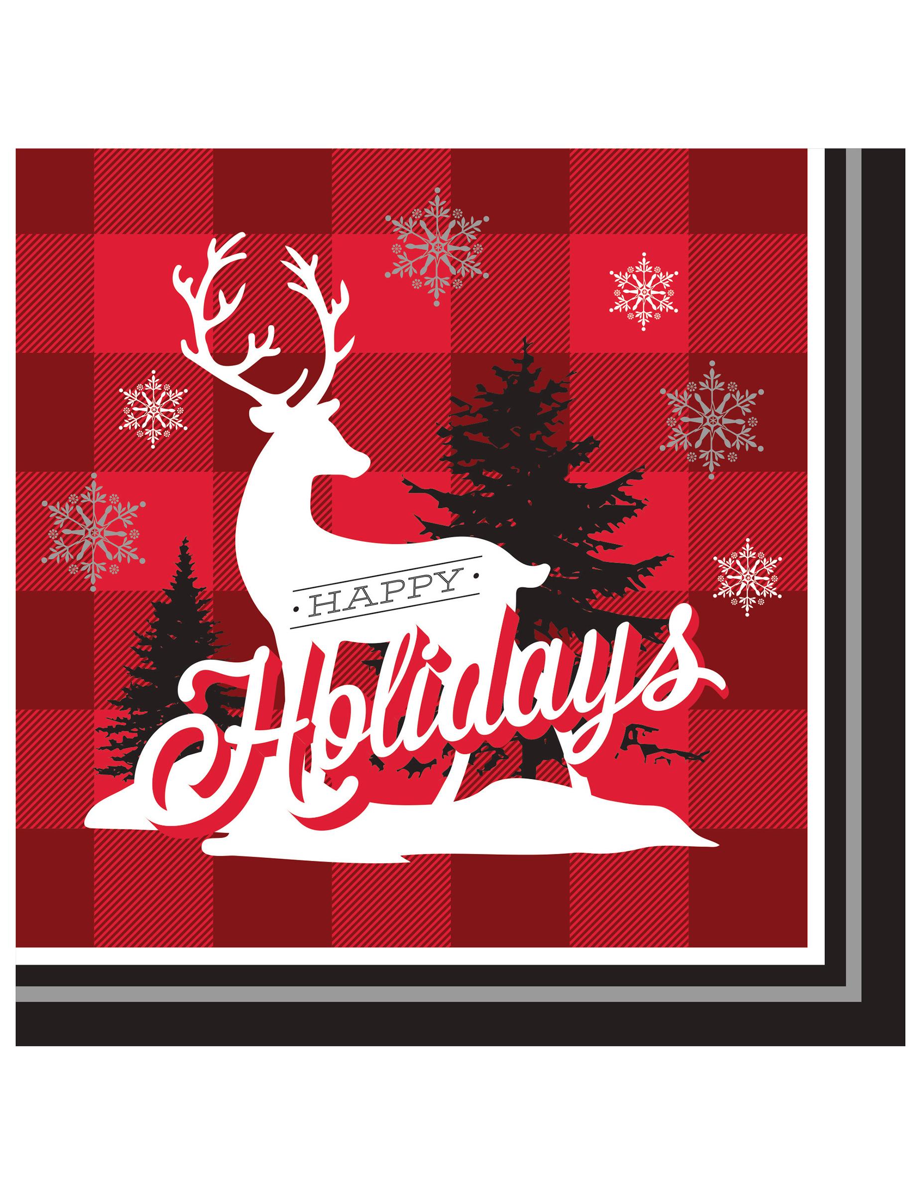 weihnachtsservietten happy holidays partydeko und g nstige faschingskost me vegaoo. Black Bedroom Furniture Sets. Home Design Ideas