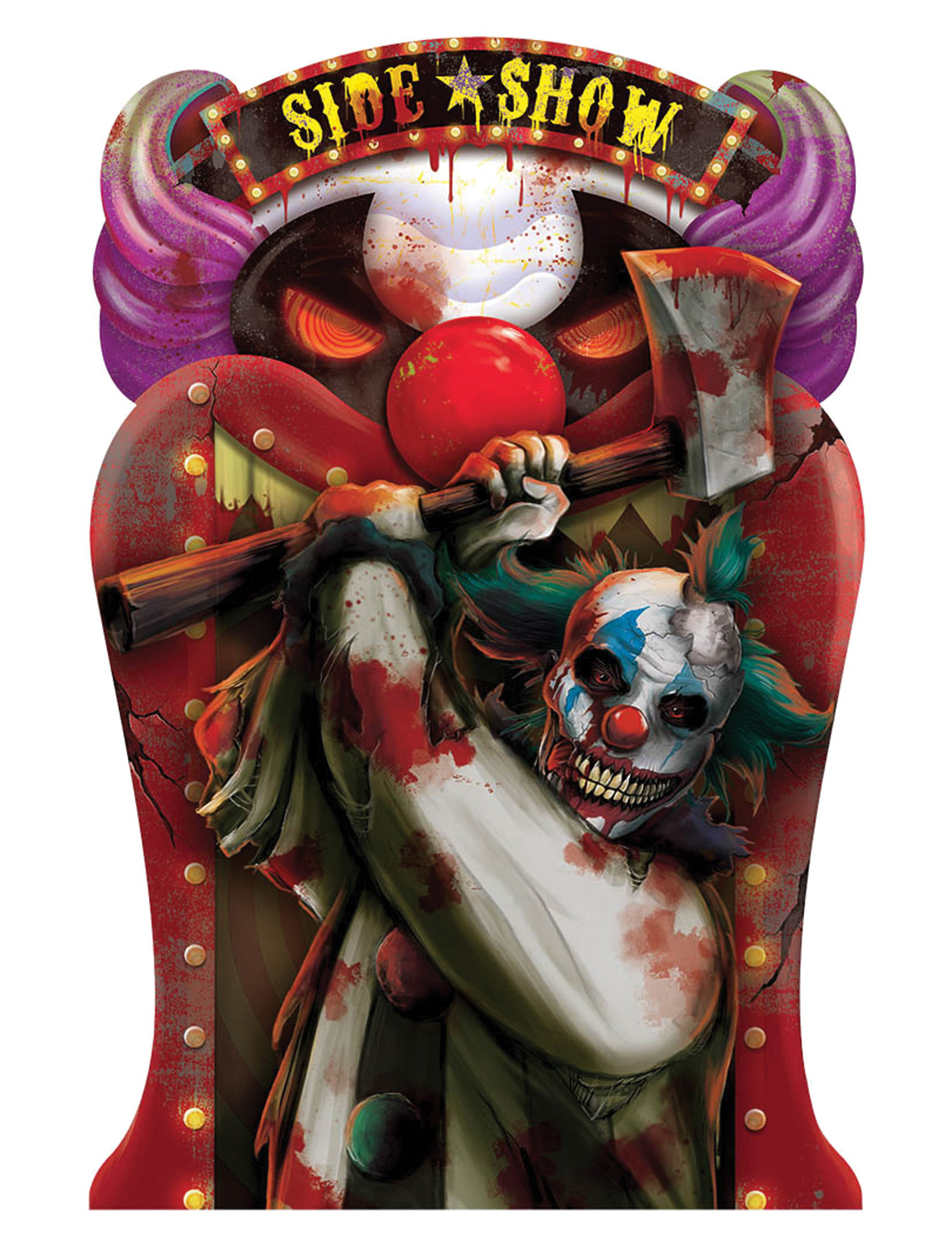 wackelbild dekoration halloween clown 46 x 31 cm. Black Bedroom Furniture Sets. Home Design Ideas