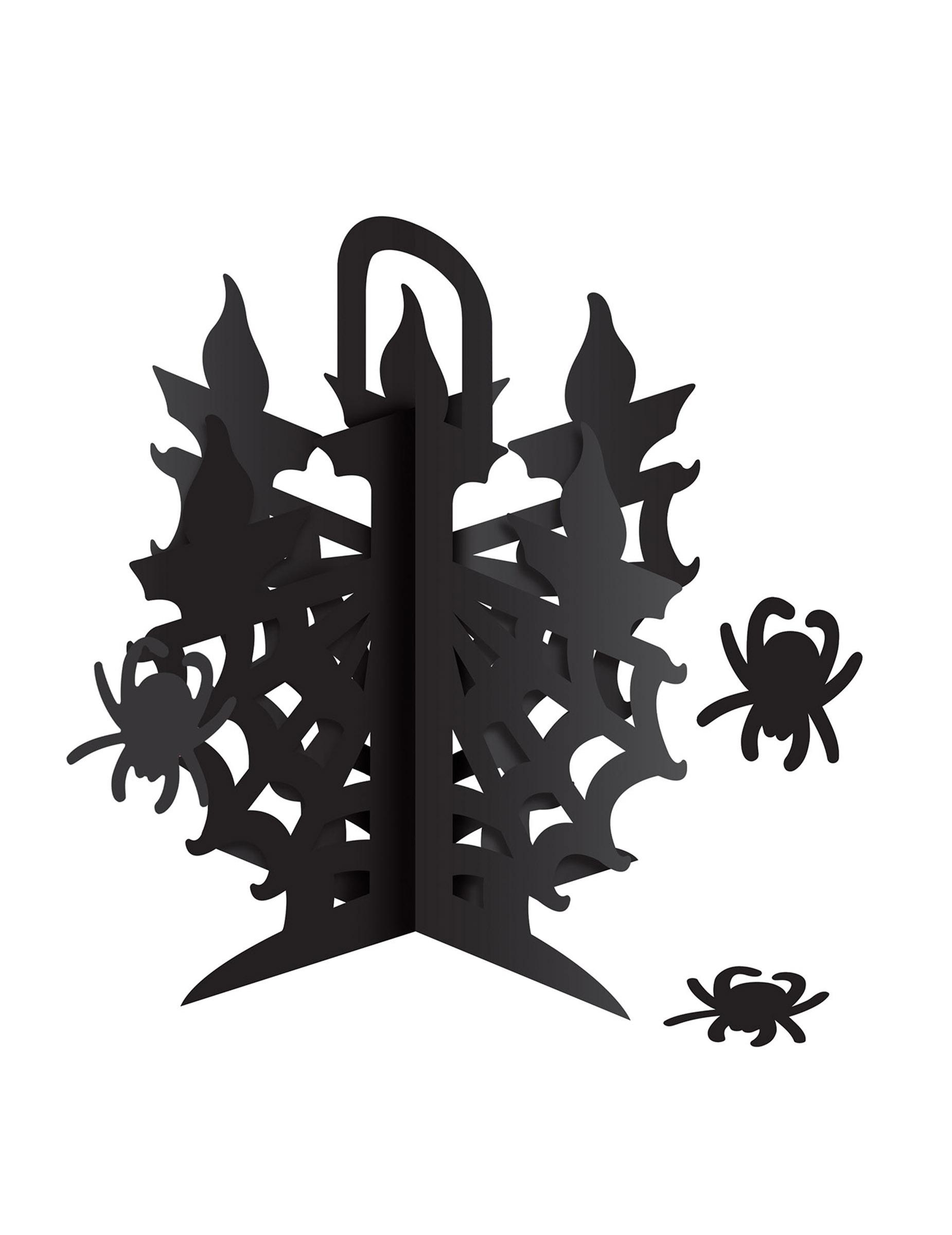 Halloween tischdekoration kerzenleuchter mit spinnen - Tischdekoration halloween ...