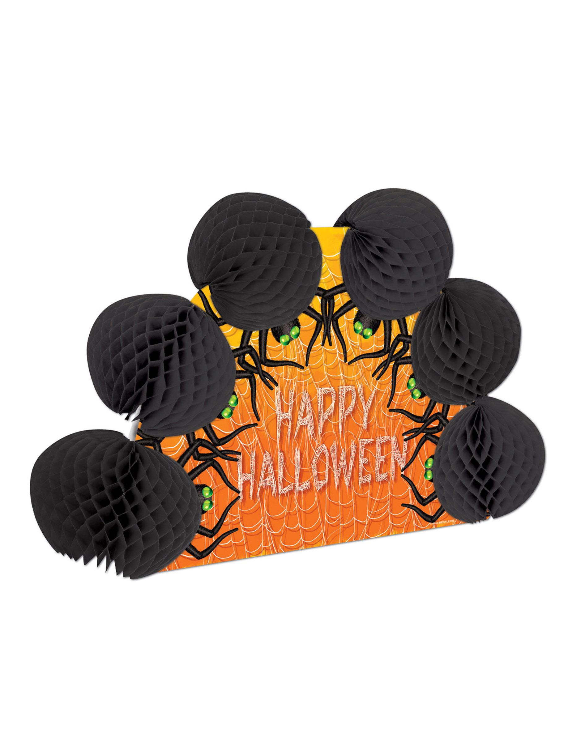 Tischdekoration happy halloween spinnen partydeko und - Tischdekoration halloween ...