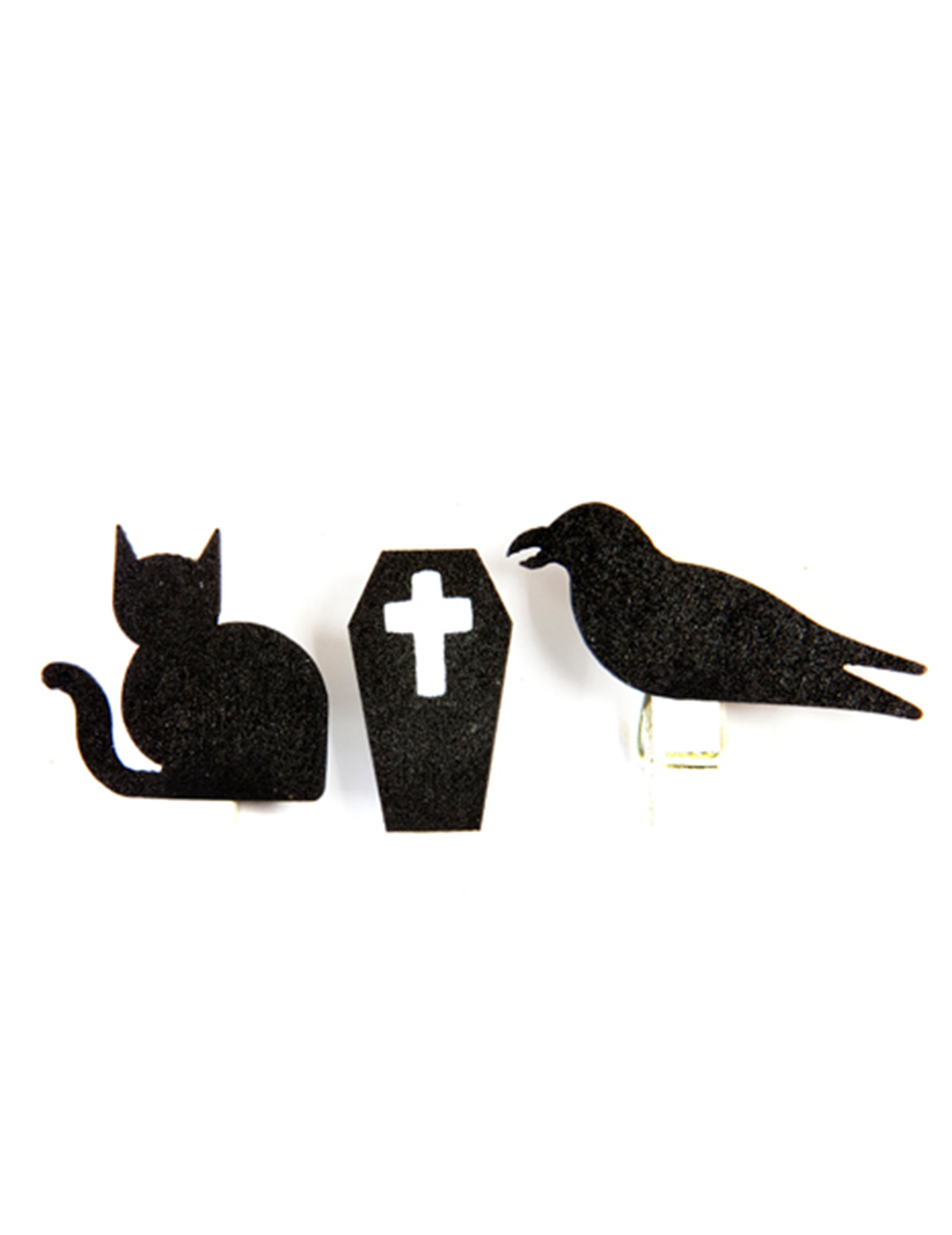 6 holzklammern gothic motive halloween schwarz wei partydeko und g nstige faschingskost me. Black Bedroom Furniture Sets. Home Design Ideas
