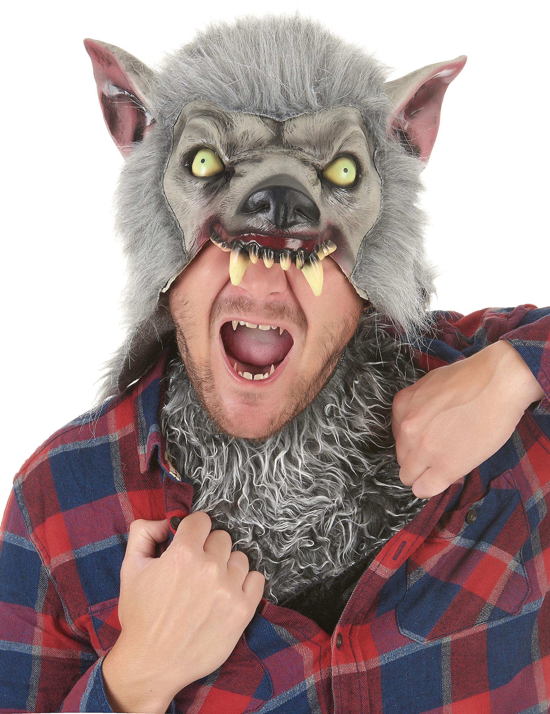 Werwolfmaske mit Kunstfell 156457
