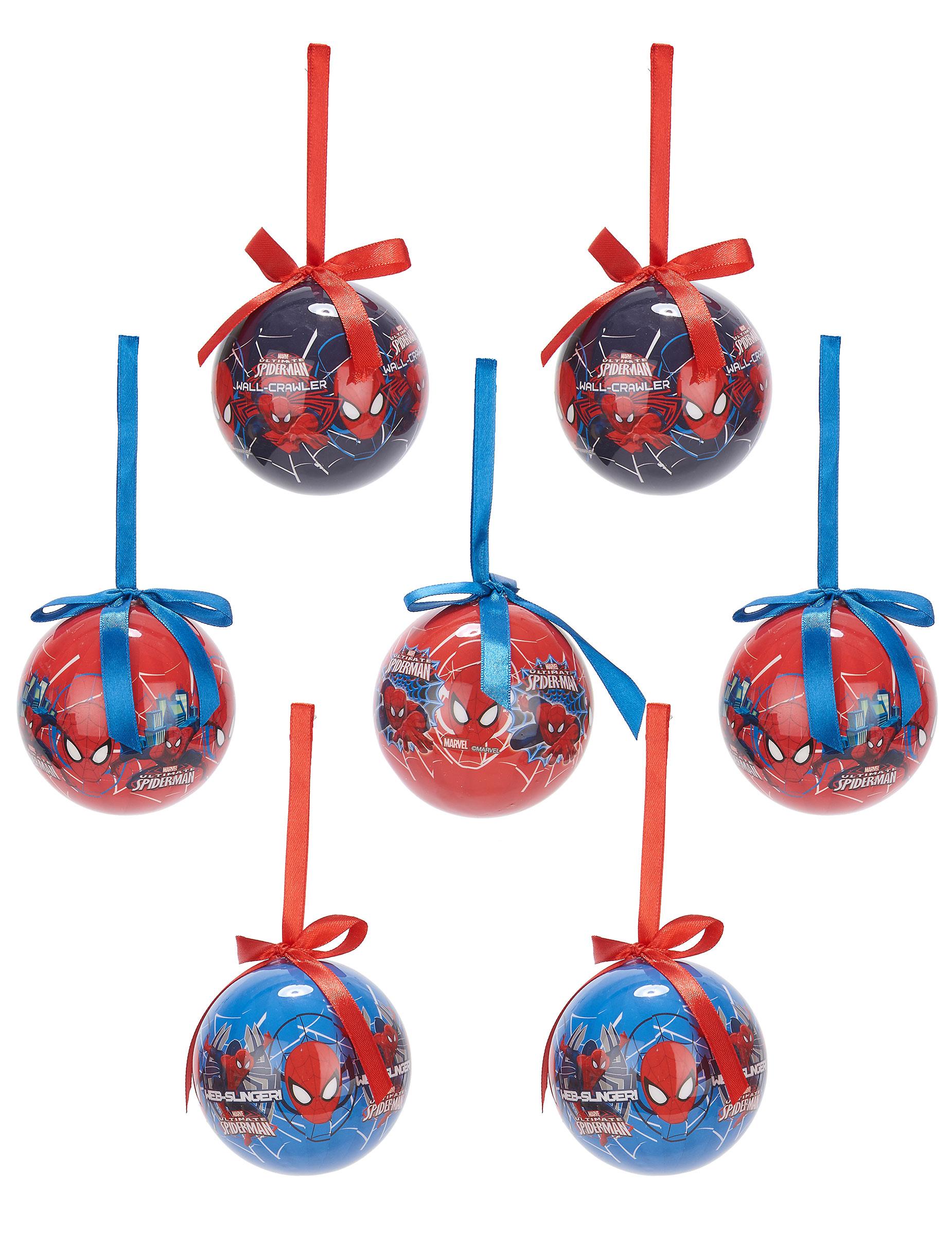 7 spiderman weihnachtskugeln partydeko und g nstige. Black Bedroom Furniture Sets. Home Design Ideas