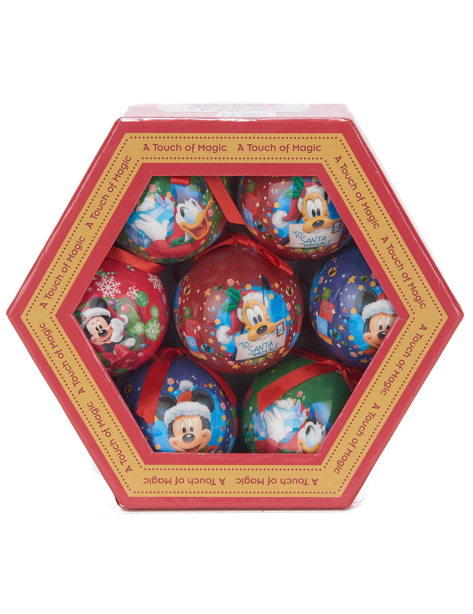 7 mickey weihnachtskugeln partydeko und g nstige for Disney weihnachtskugeln