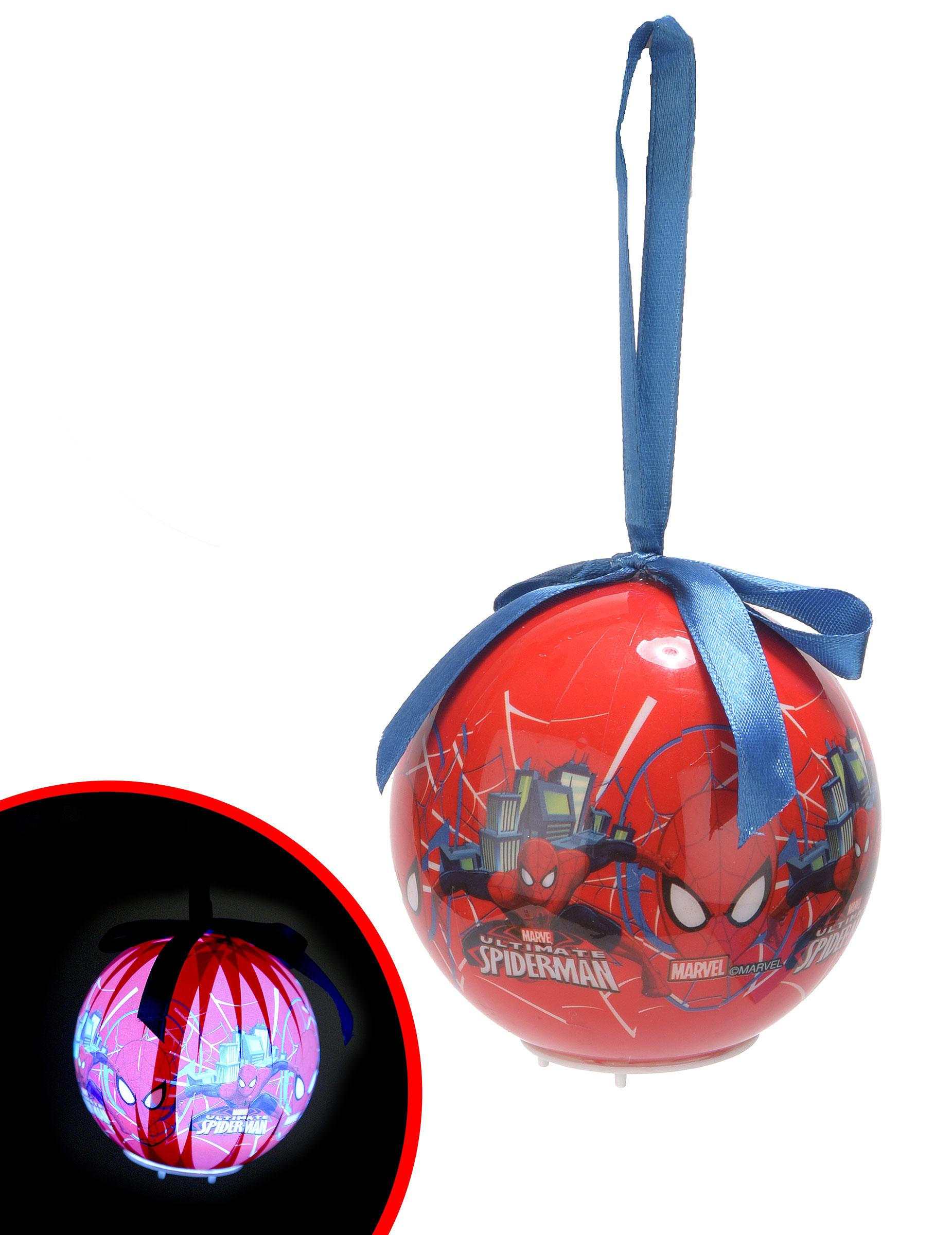 Leuchtende Weihnachtskugel Spiderman™: Partydeko,und günstige ...