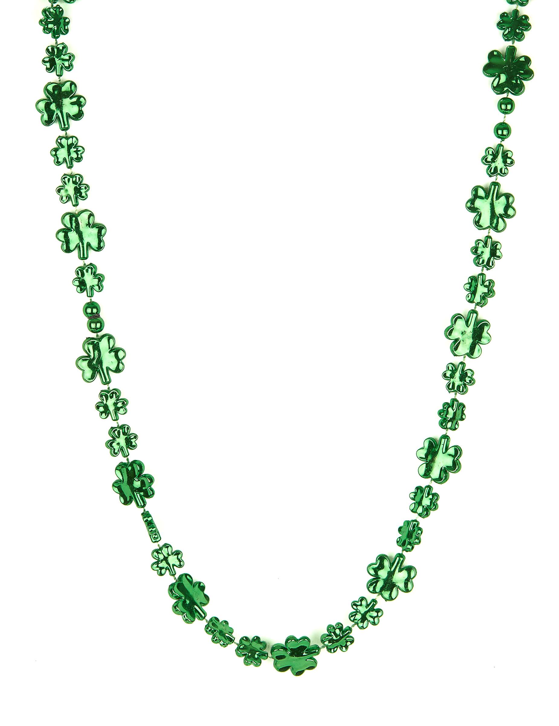 *Kleeblatt Halskette St. Patrick's Day grün*