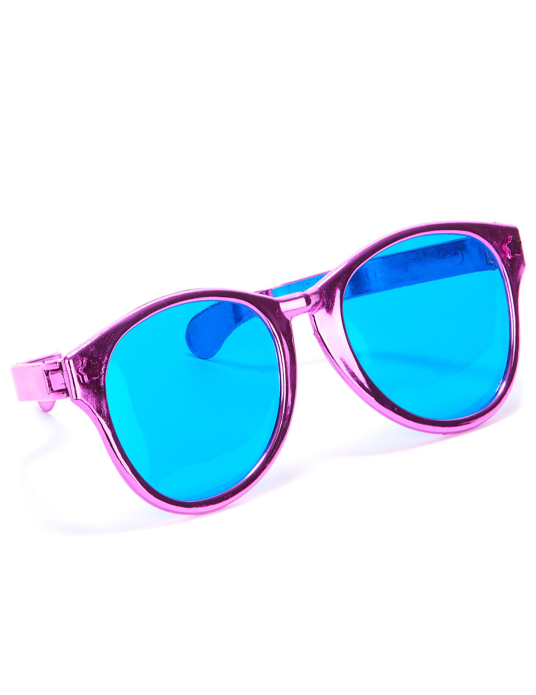 brille f r erwachsene mit rosa gl sern accessoires und. Black Bedroom Furniture Sets. Home Design Ideas