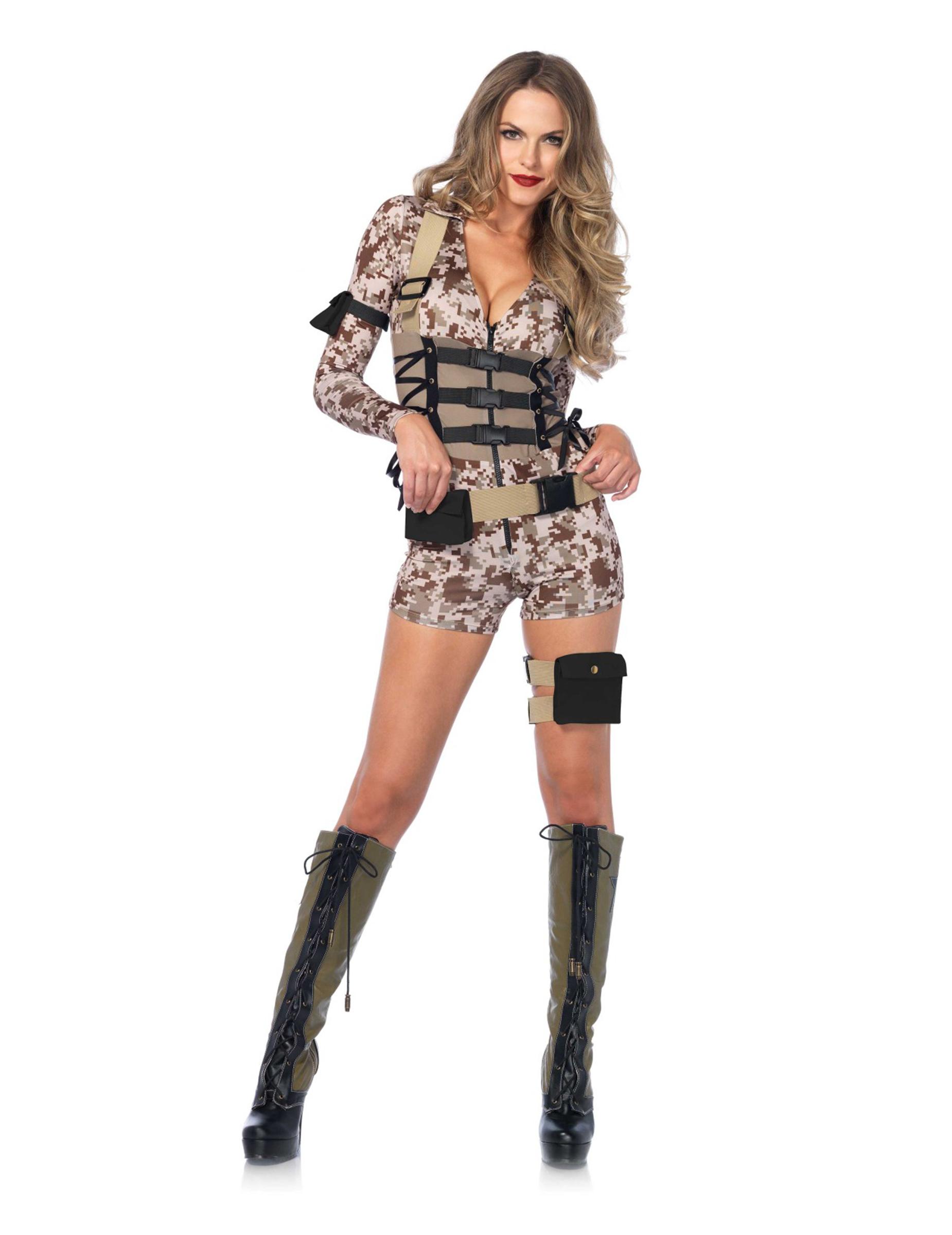 sexy soldatin milit r damenkost m. Black Bedroom Furniture Sets. Home Design Ideas