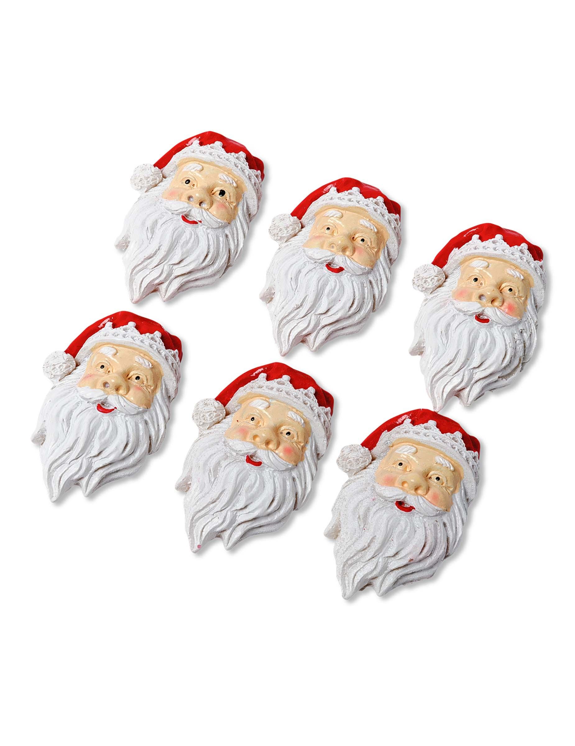 kleine weihnachtsmannk pfe zum aufkleben partydeko und g nstige faschingskost me vegaoo. Black Bedroom Furniture Sets. Home Design Ideas