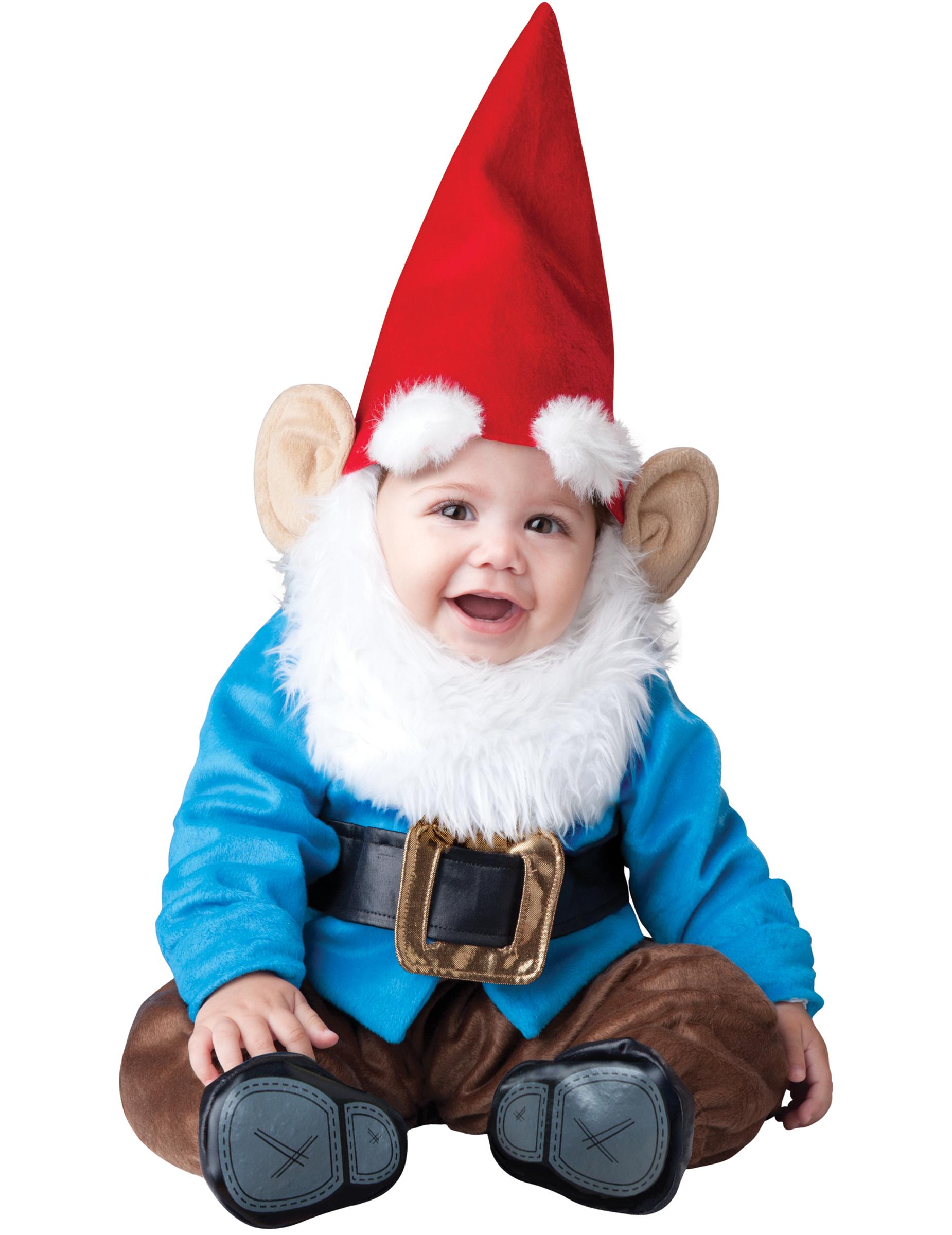 Deluxe Gartenzwerg-Kostüm für Babys - 62/68 (0-6 Monate) 157571
