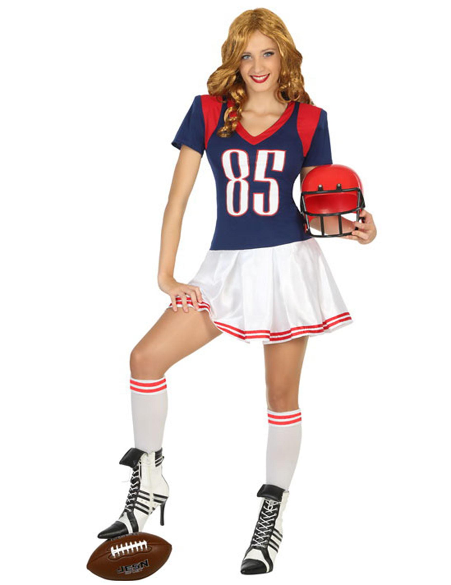 Amerikanische Football-Spielerin Damenkostüm - XS / S 157965