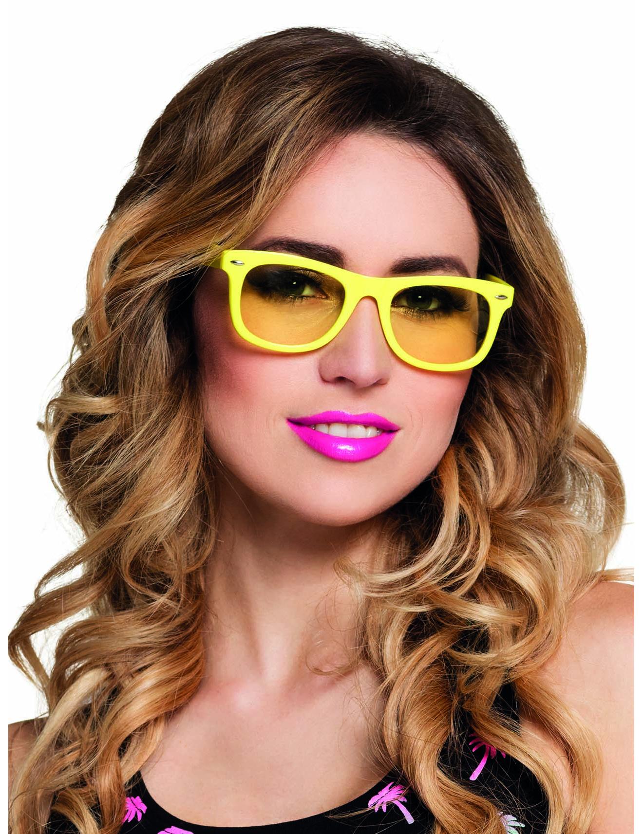 50er jahre partybrille f r erwachsene gelb accessoires und g nstige faschingskost me vegaoo. Black Bedroom Furniture Sets. Home Design Ideas