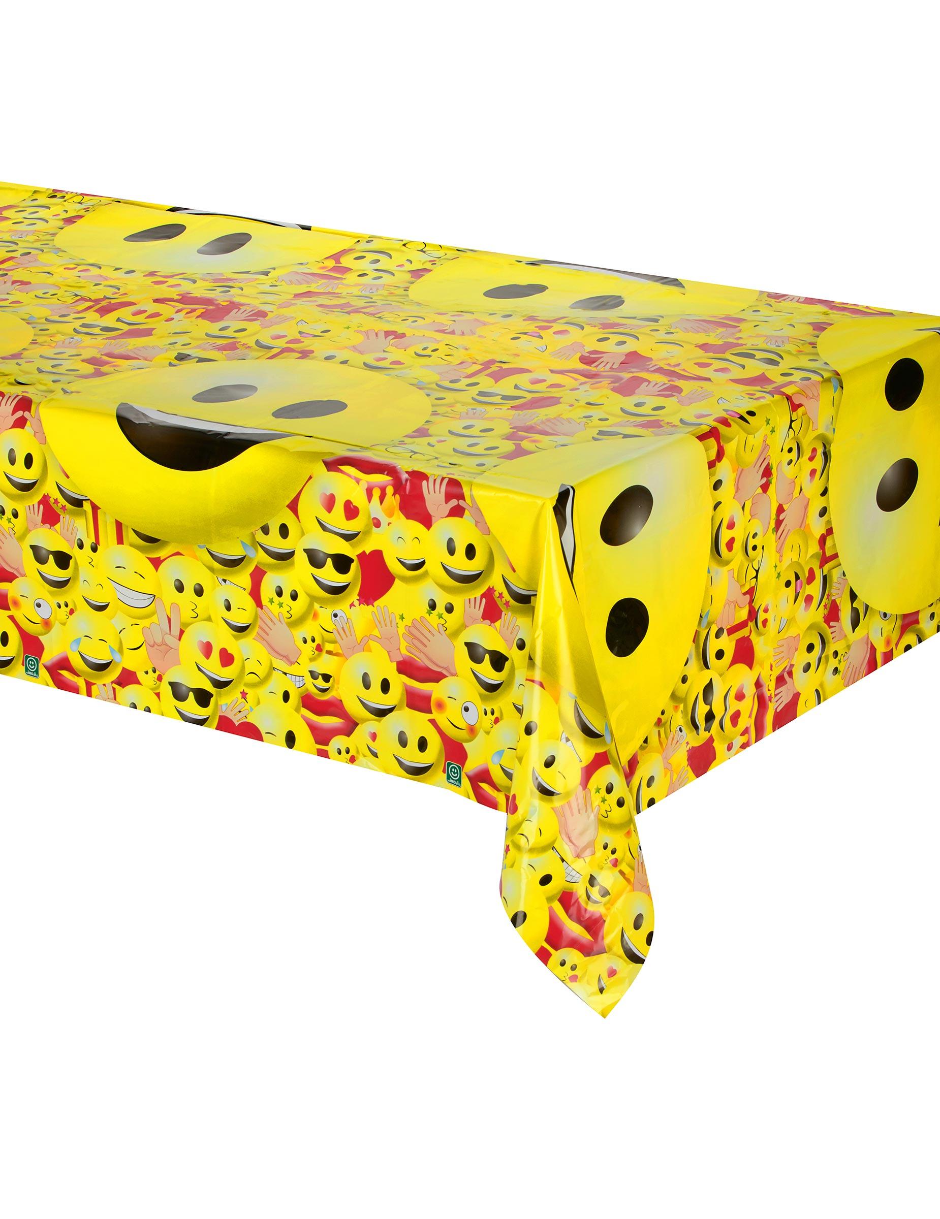 tischdecke kunststoff imoji 180 x 150 cm partydeko und g nstige faschingskost me vegaoo. Black Bedroom Furniture Sets. Home Design Ideas