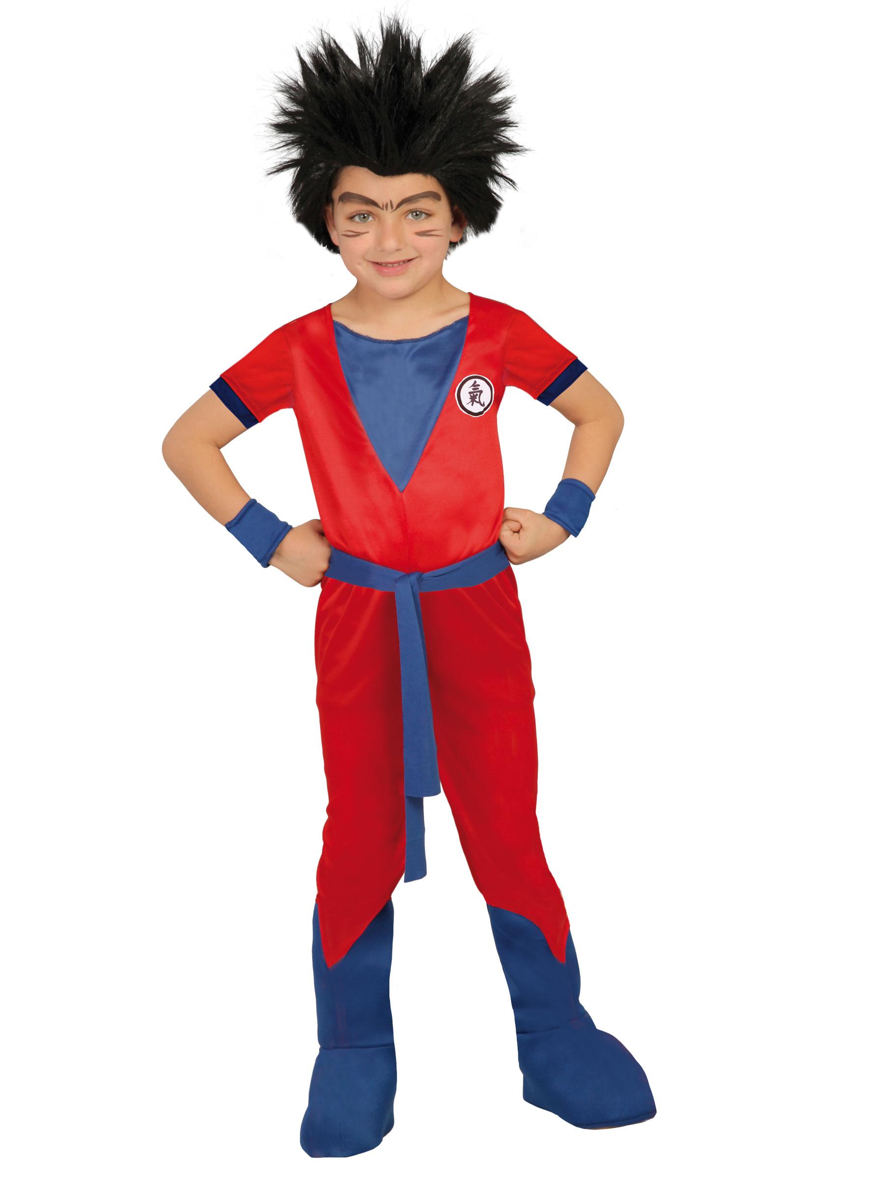 Rotes Manga Kostüm Für Kinder