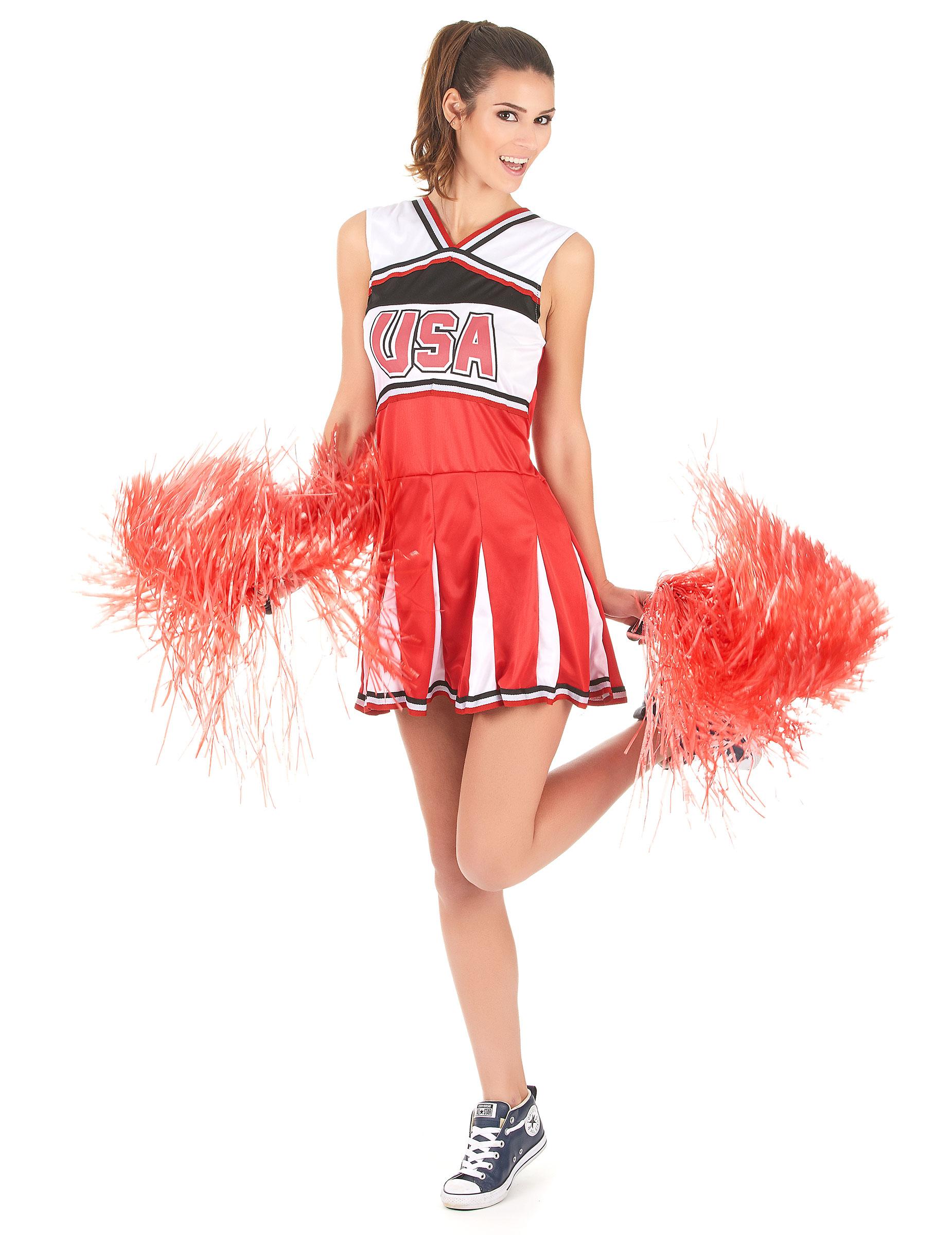 Cheerleader Kostüm USA für Damen - L 160450
