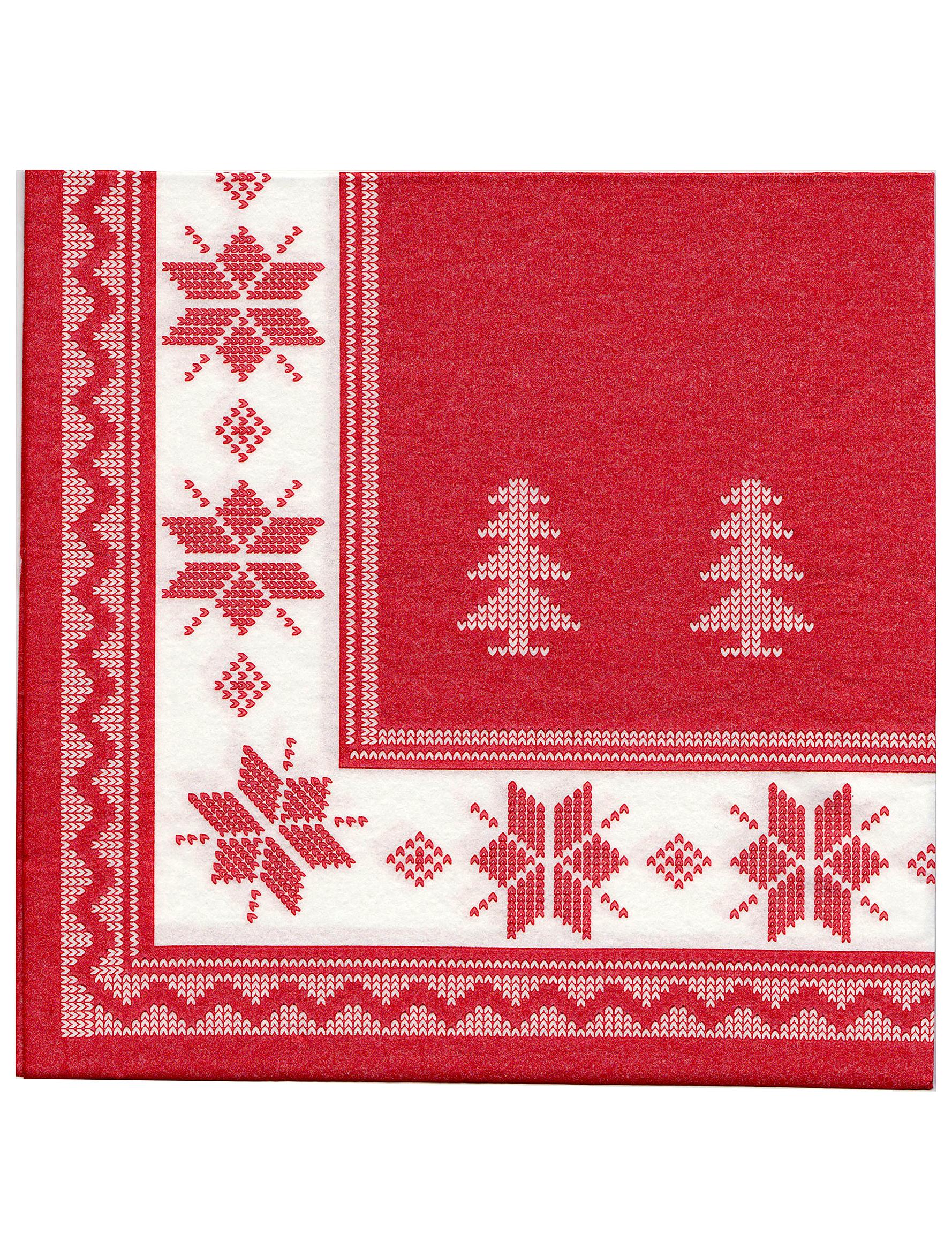12 weihnachten papier servietten rot wei 40 x 40 cm. Black Bedroom Furniture Sets. Home Design Ideas