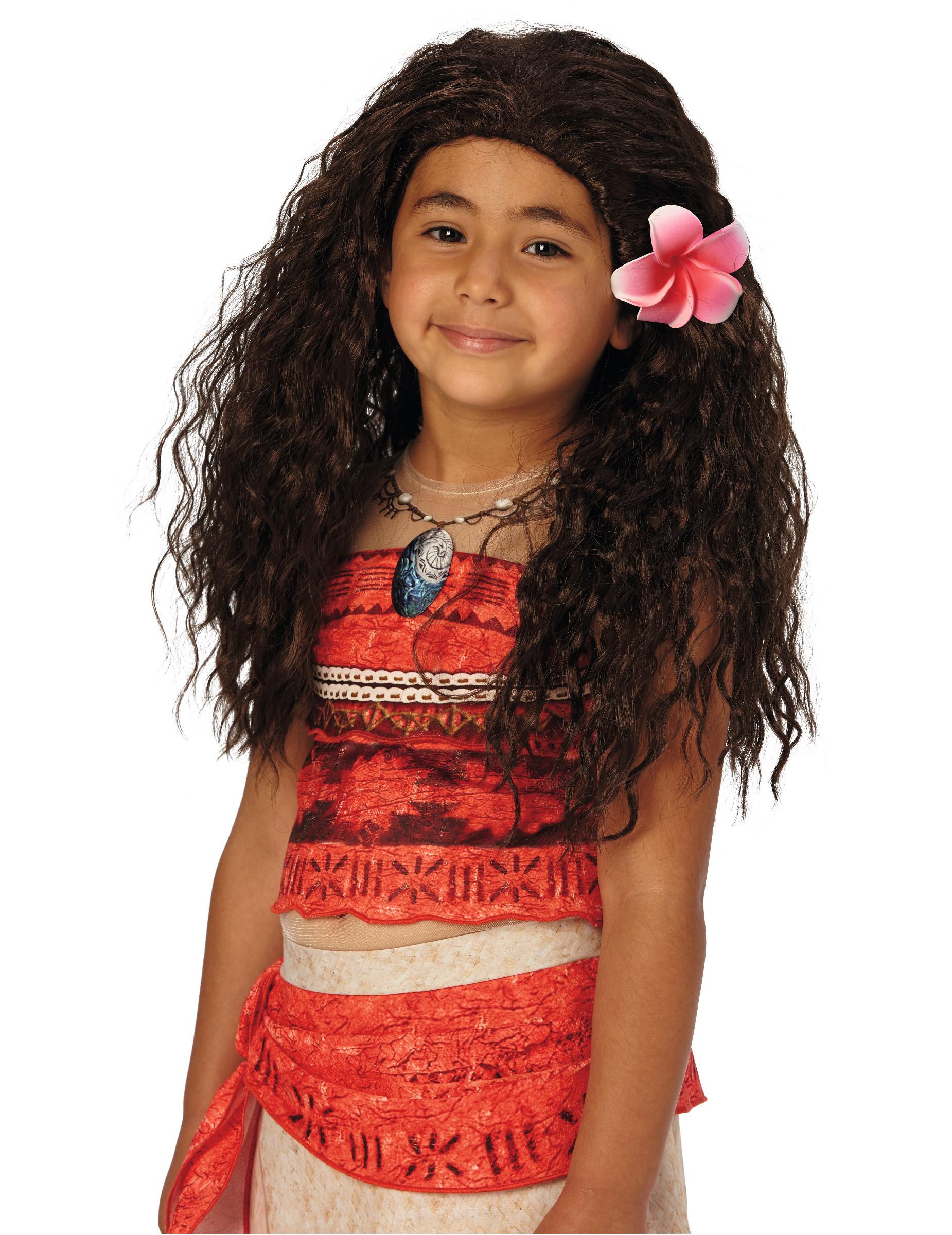 Vaiana Perücke für Kinder 160744