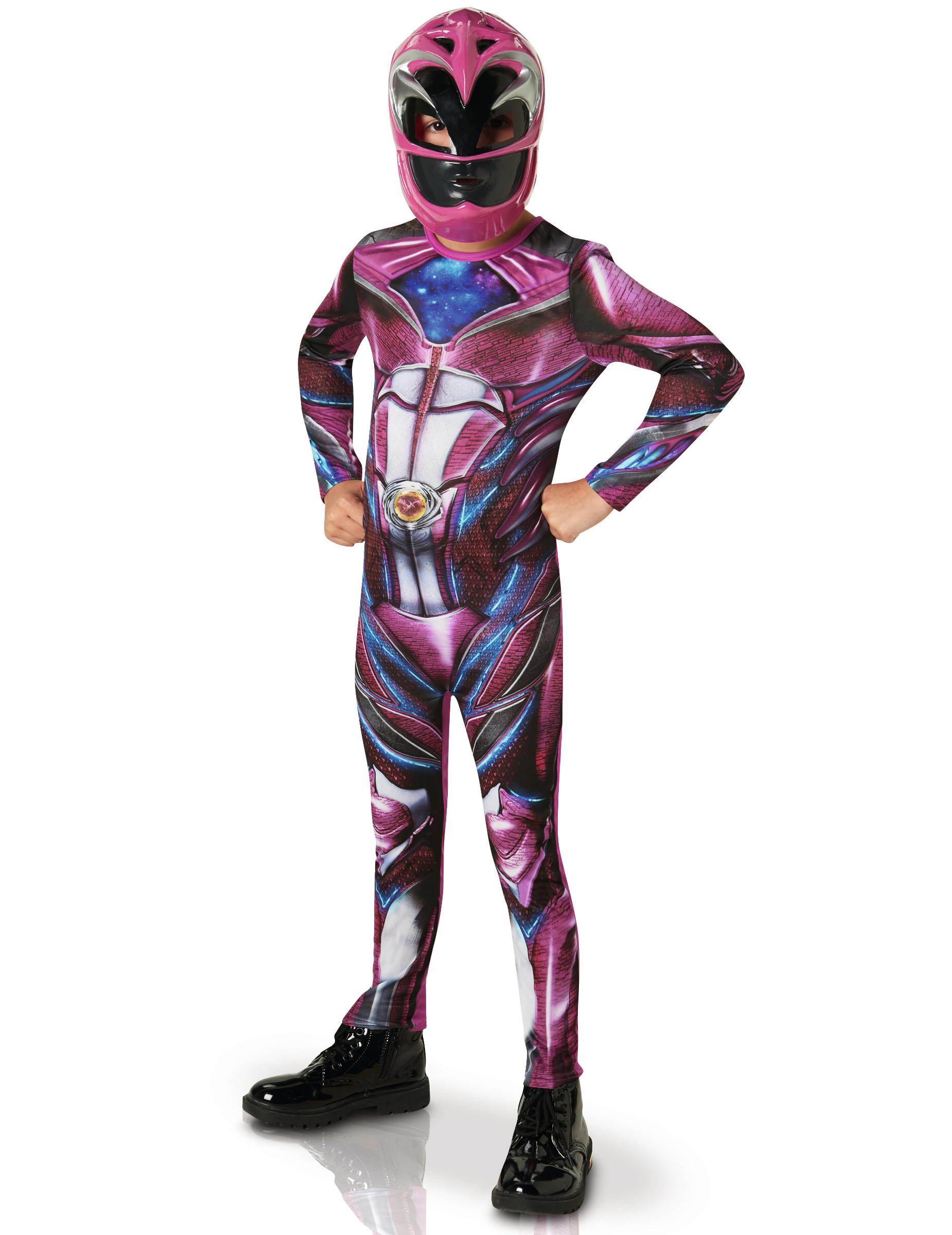 #Pinkes Power Rangers™ Kostüm für Kinder#