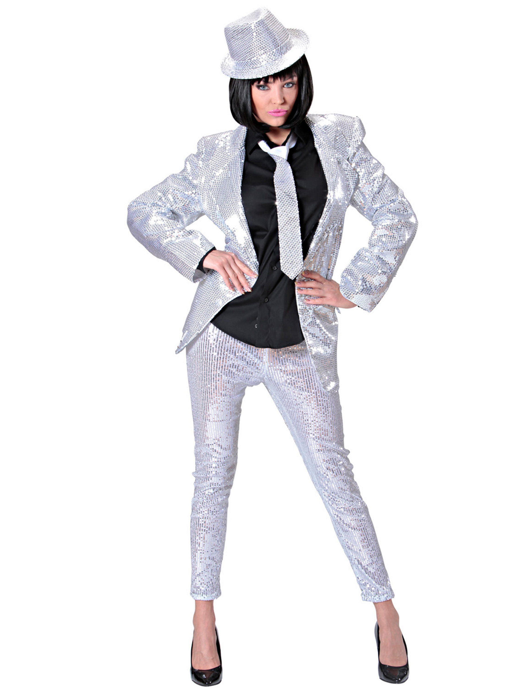 leggings mit pailletten f r erwachsene silber kost me f r. Black Bedroom Furniture Sets. Home Design Ideas