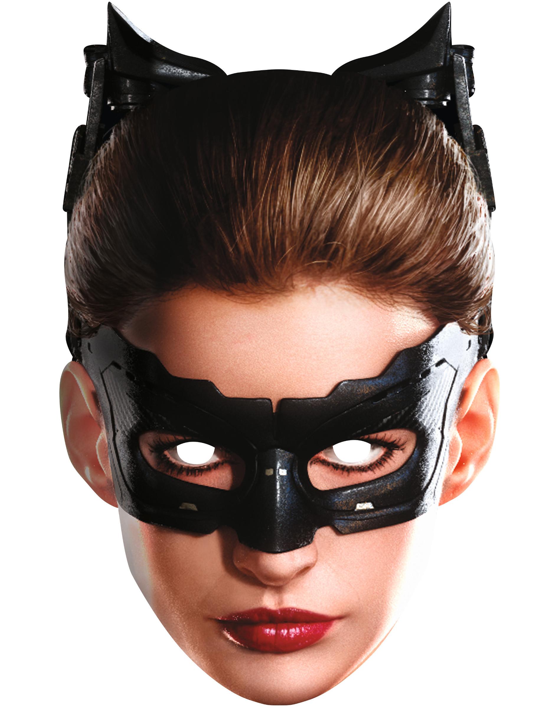 catwoman maske aus karton masken und g nstige faschingskost me vegaoo. Black Bedroom Furniture Sets. Home Design Ideas