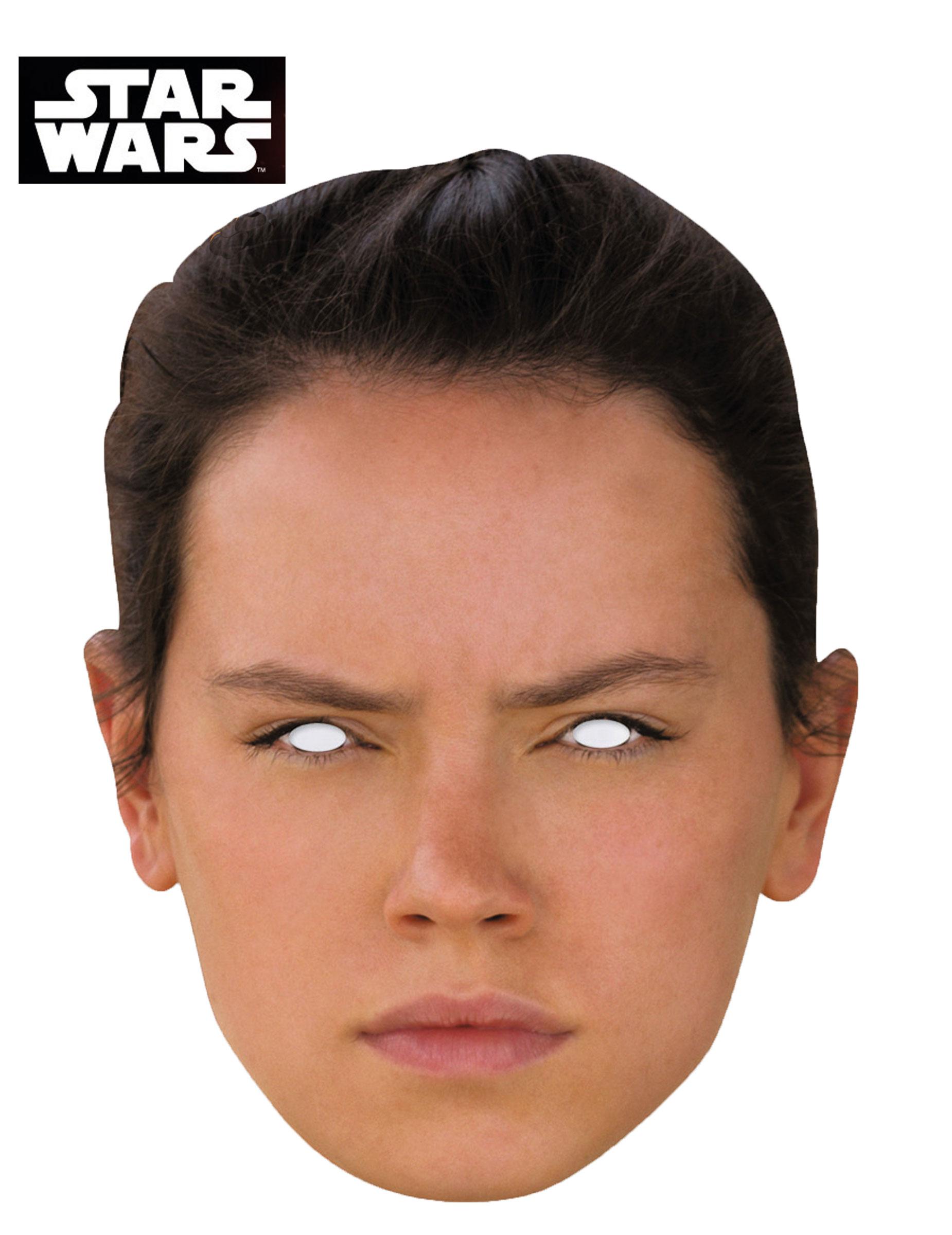 Karton Maske Rey Star Wars VII™ Masken und günstige