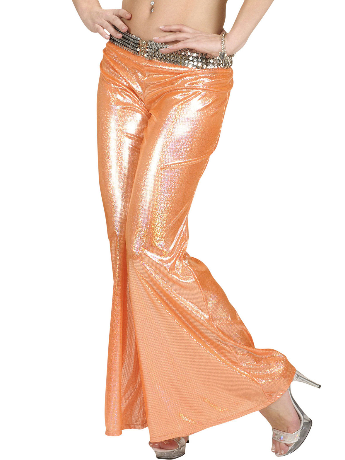 holografische discohose orange f r damen kost me f r erwachsene und g nstige faschingskost me. Black Bedroom Furniture Sets. Home Design Ideas