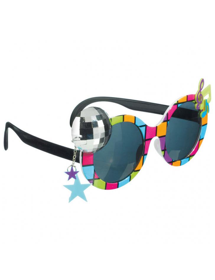 Disco-Brille für Erwachsene bunt: Accessoires,und günstige ...