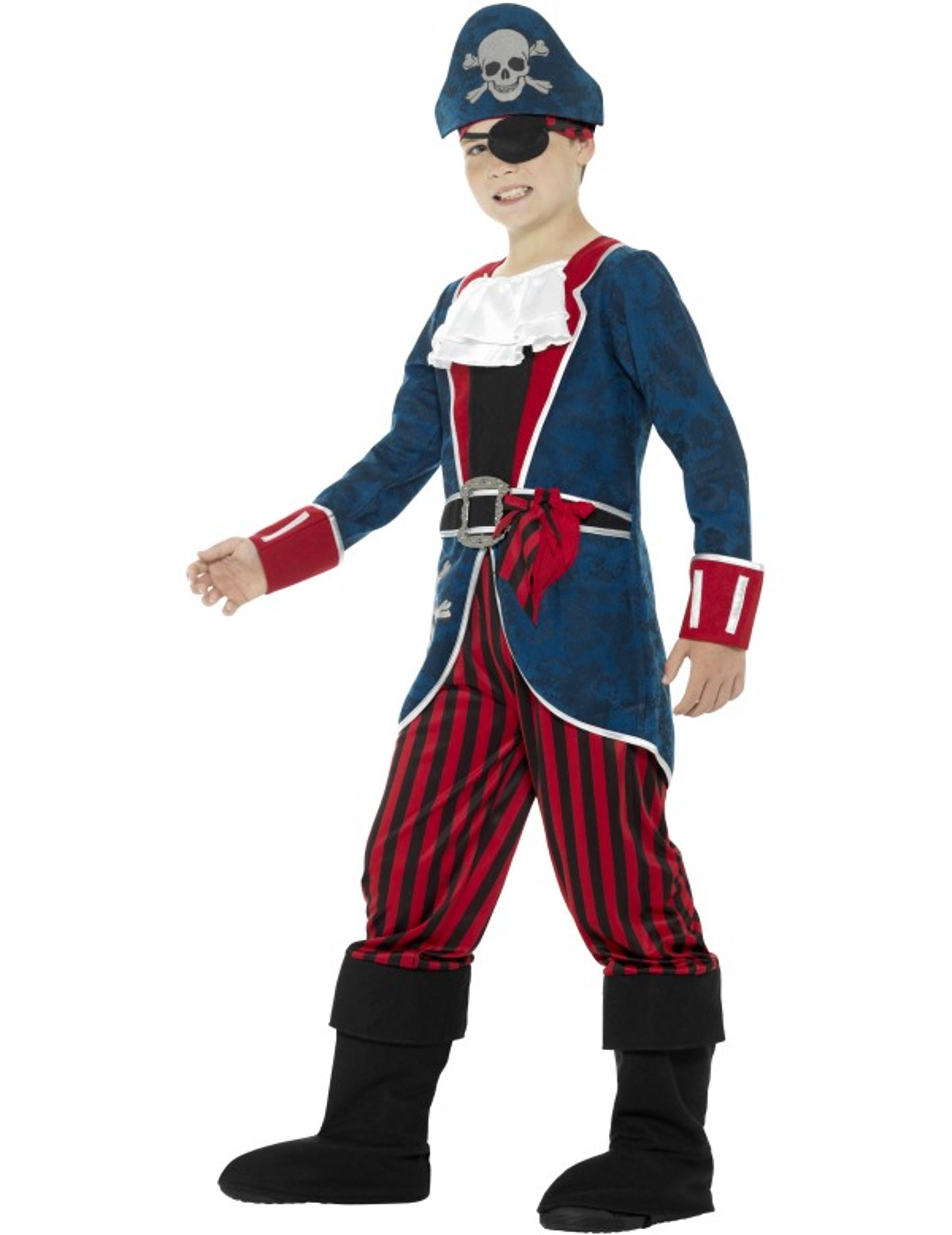 kapit n piraten kost m blau und rot f r jungen kost me f r kinder und g nstige faschingskost me. Black Bedroom Furniture Sets. Home Design Ideas