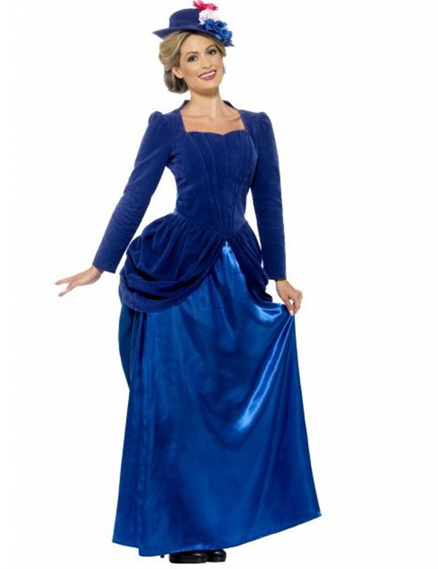 viktorianische prinzessin damen kost m blau kost me f r. Black Bedroom Furniture Sets. Home Design Ideas