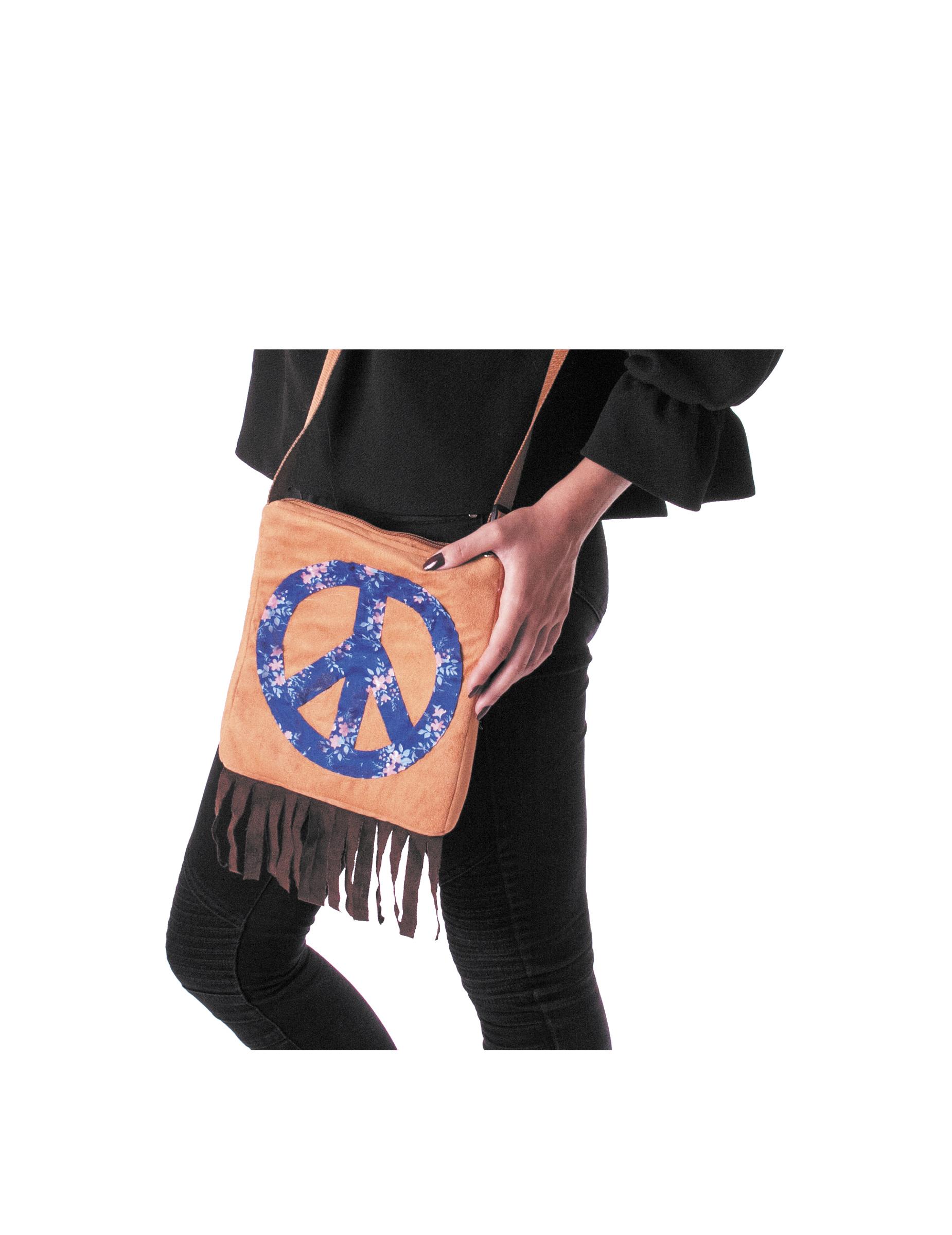 hippie handtasche f r damen blau braun accessoires und g nstige faschingskost me vegaoo. Black Bedroom Furniture Sets. Home Design Ideas