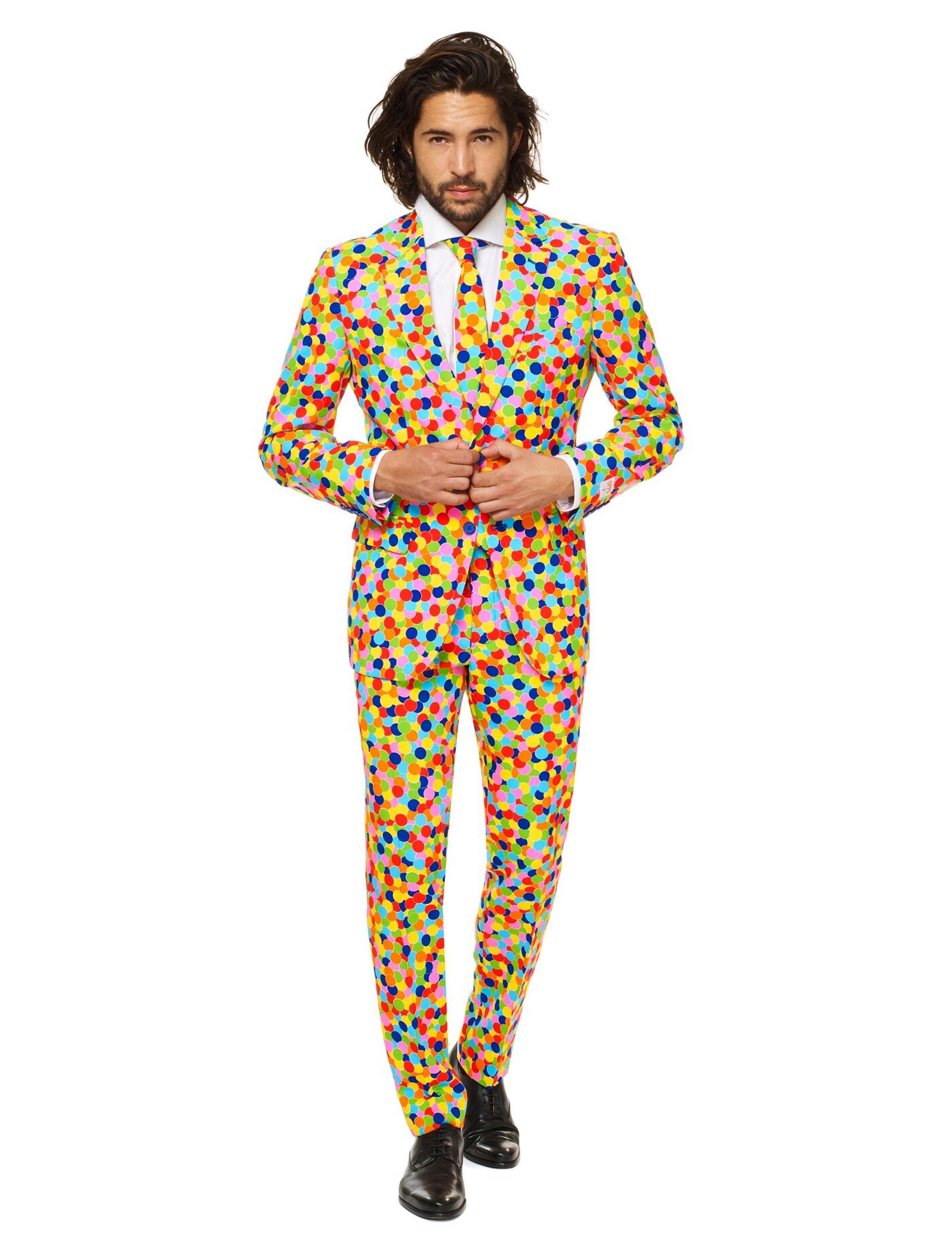 mr confetteroni herren anzug opposuits bunt kost me f r erwachsene und g nstige. Black Bedroom Furniture Sets. Home Design Ideas