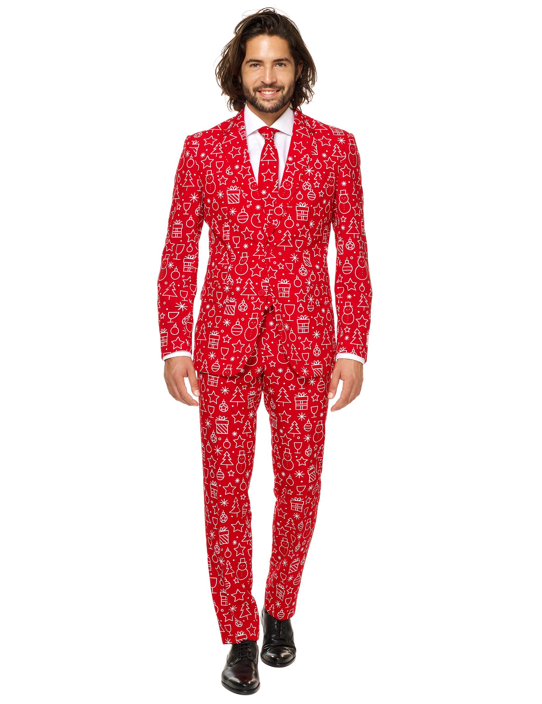 mr iconicool herren anzug opposuits rot wei kost me f r erwachsene und g nstige. Black Bedroom Furniture Sets. Home Design Ideas