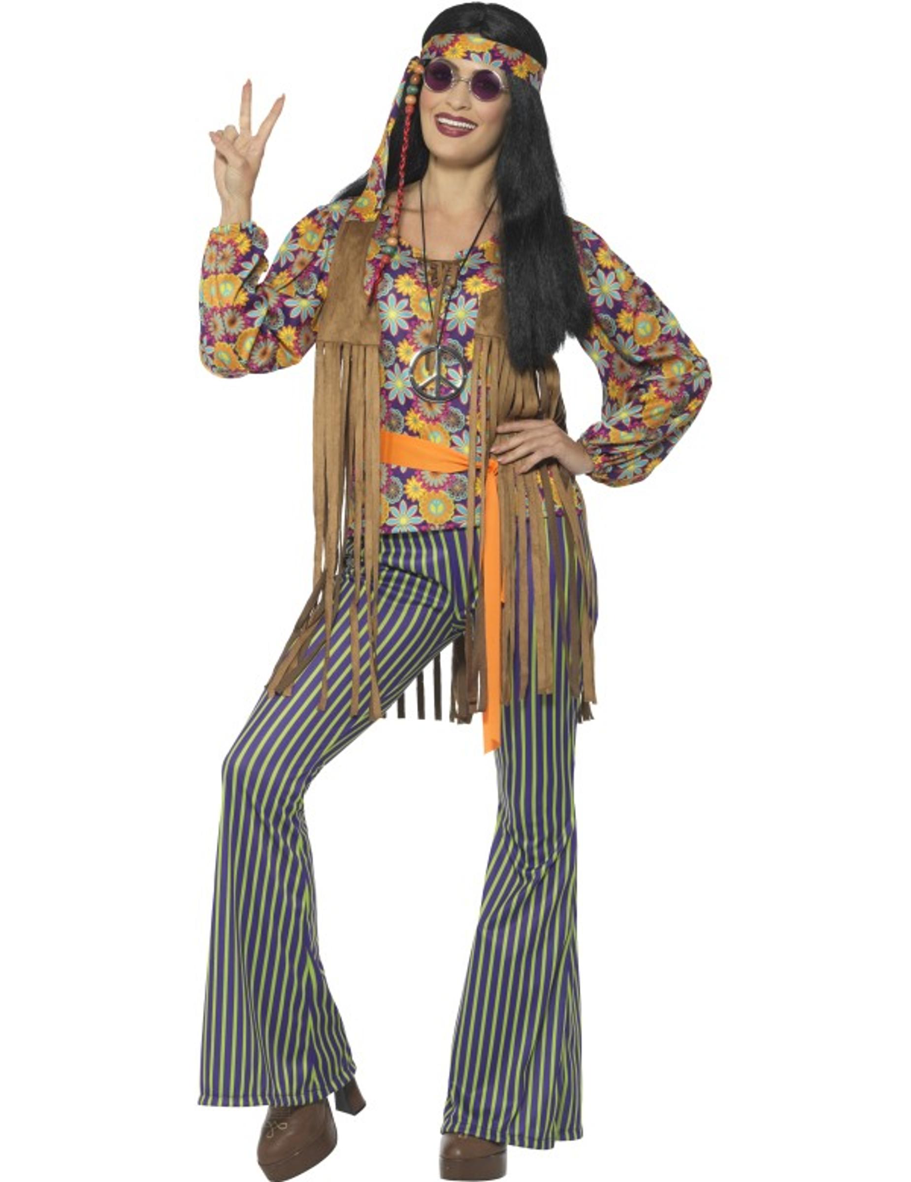 hippie s ngerin kost m f r damen 60er jahre kost me f r. Black Bedroom Furniture Sets. Home Design Ideas