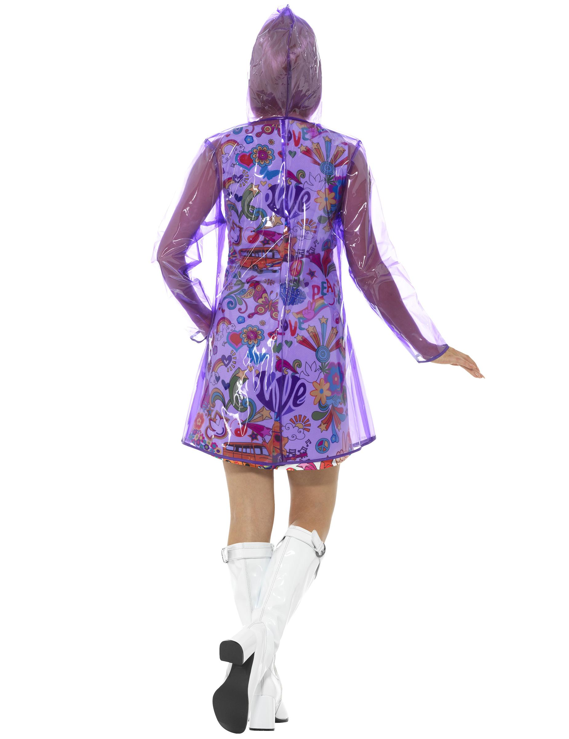 wasserdichte jacke 60er jahre violett damen kost me f r. Black Bedroom Furniture Sets. Home Design Ideas