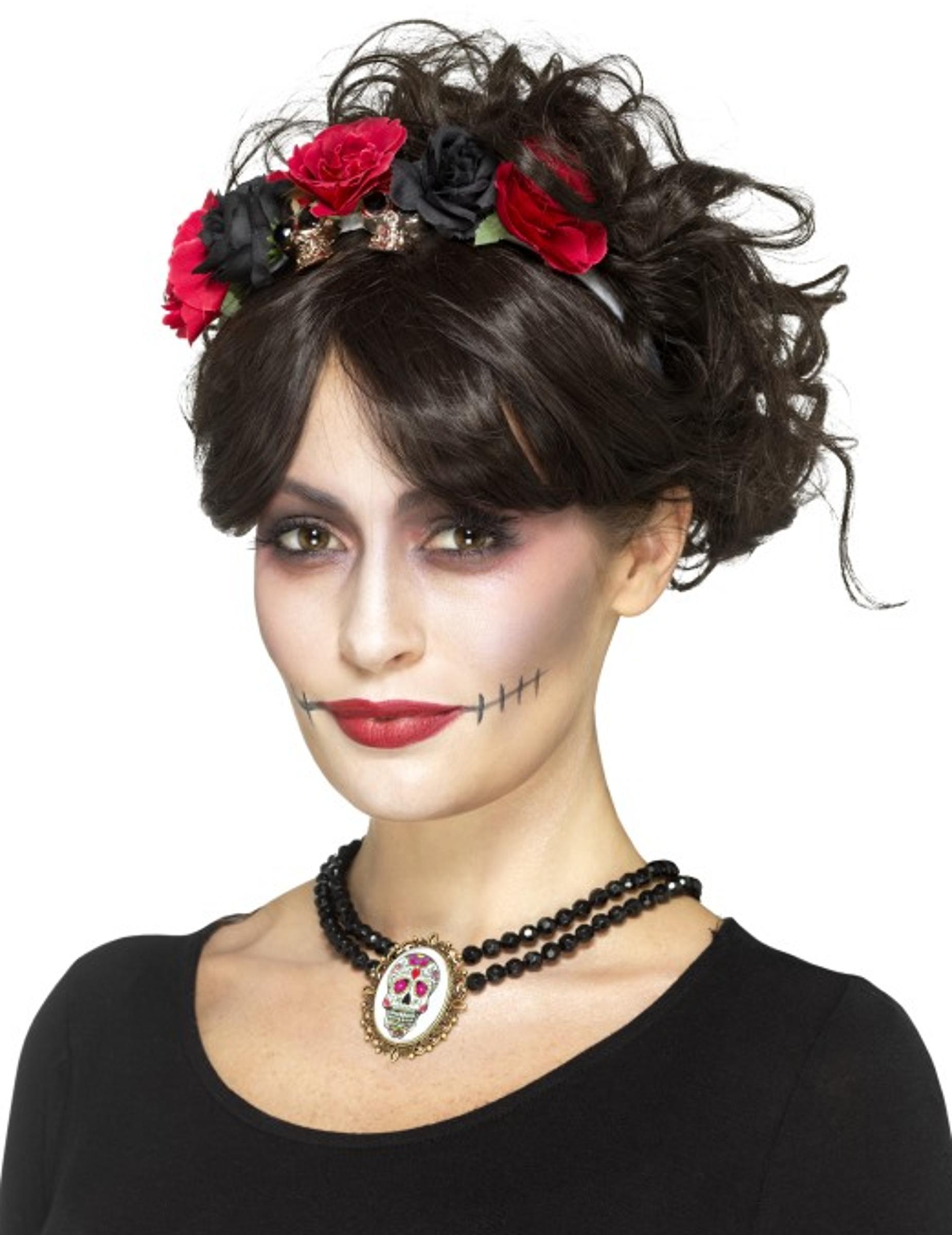 gothic halsband dia de los muertos f r damen accessoires und g nstige faschingskost me vegaoo. Black Bedroom Furniture Sets. Home Design Ideas