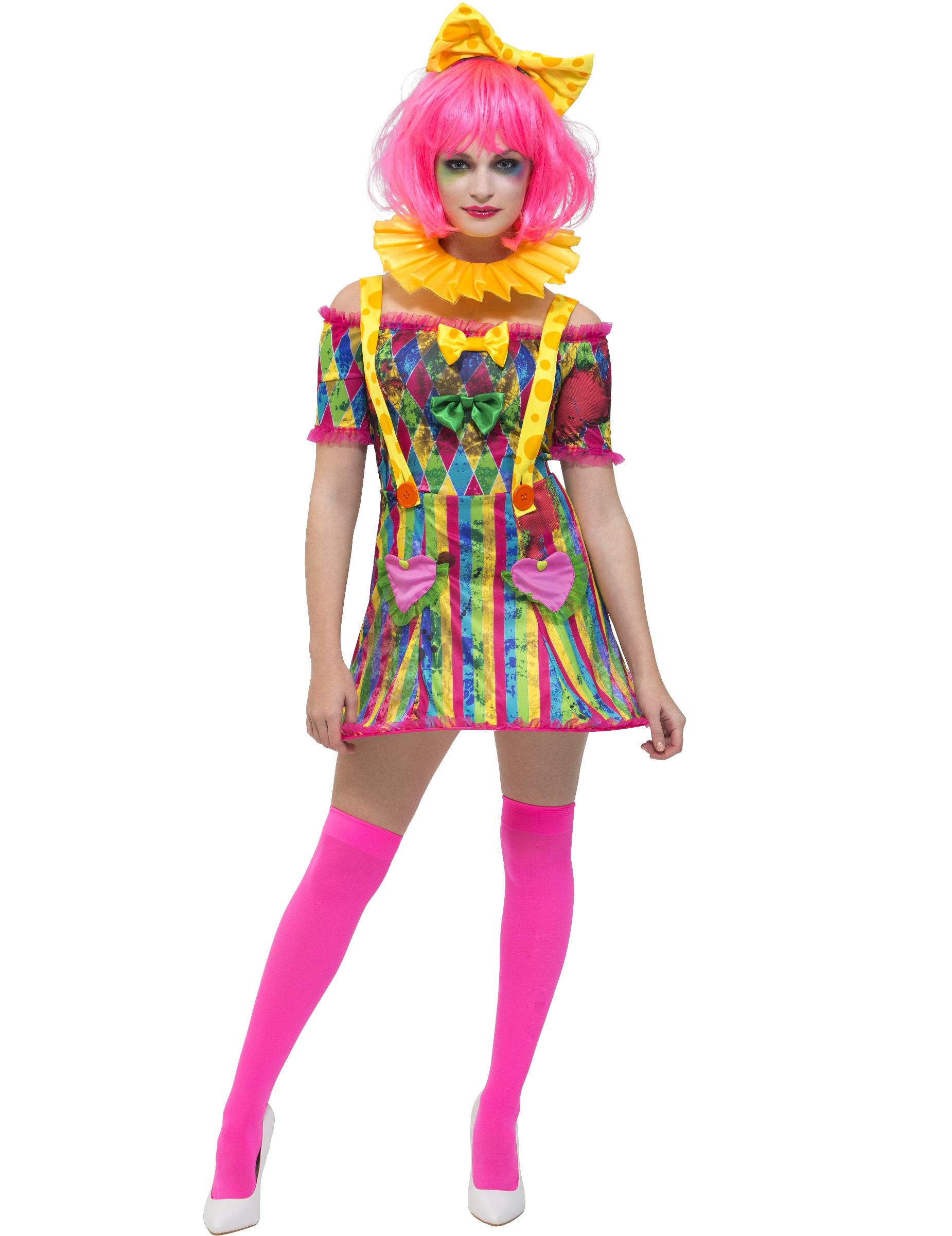 Patchwork Clown Kostum Frauen Kostume Fur Erwachsene Und Gunstige