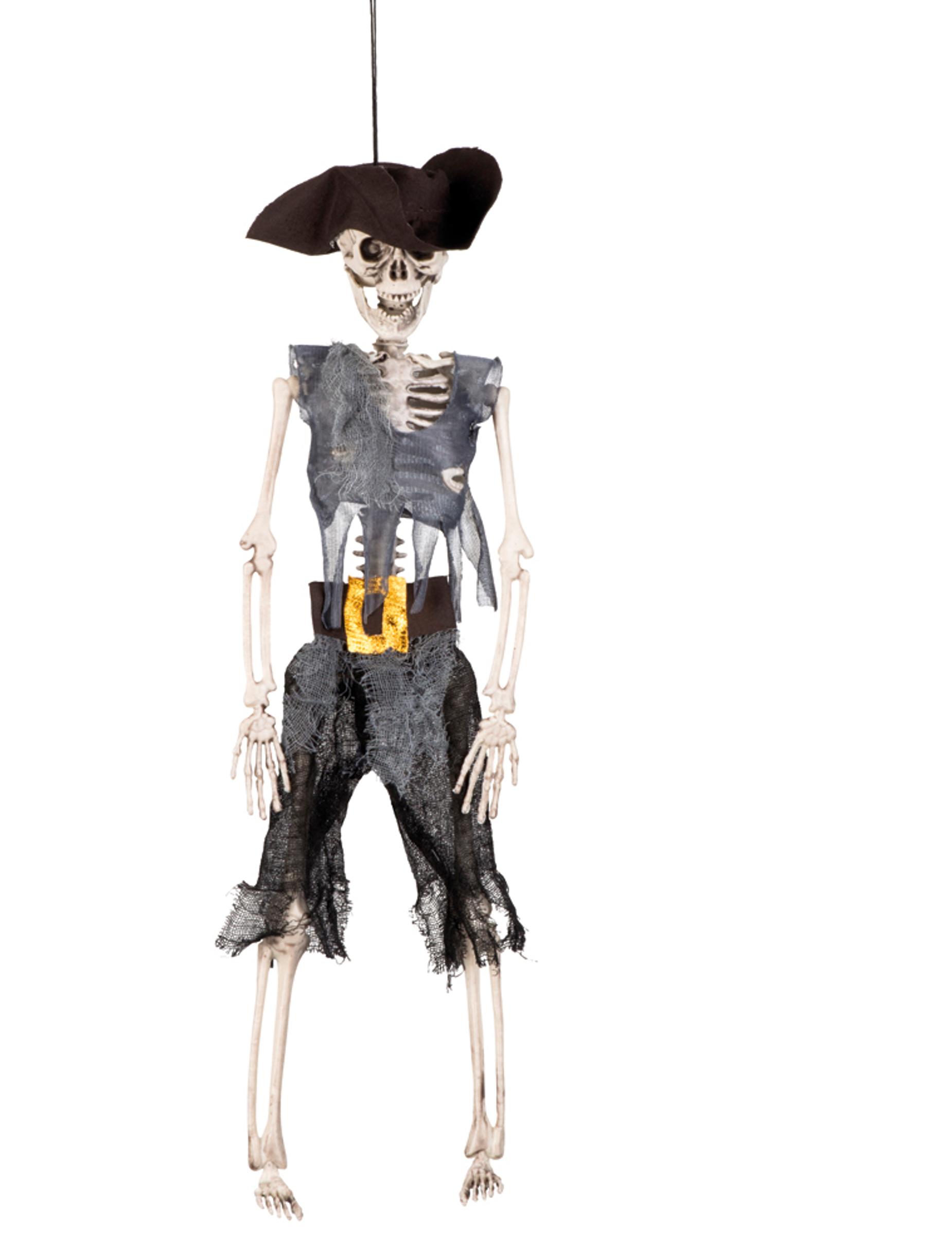halloween puppen dekoration piraten skelett zum aufh ngen 40 cm partydeko und g nstige. Black Bedroom Furniture Sets. Home Design Ideas