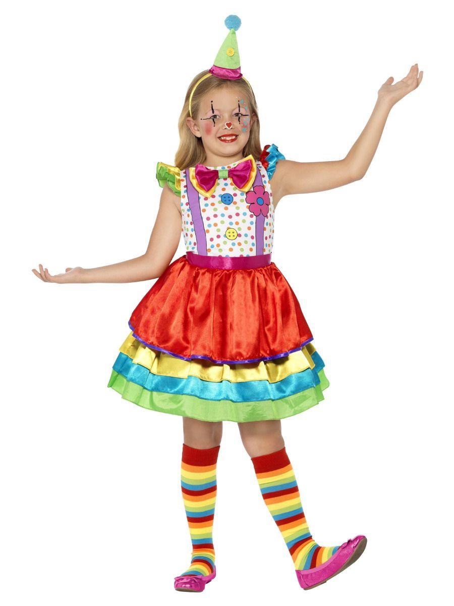 *Kostüm mit buntem Rock für Mädchen*