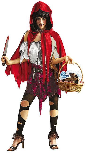 halloween damen kost m zombie rotk ppchen schwarz weiss rot kost me f r erwachsene und. Black Bedroom Furniture Sets. Home Design Ideas