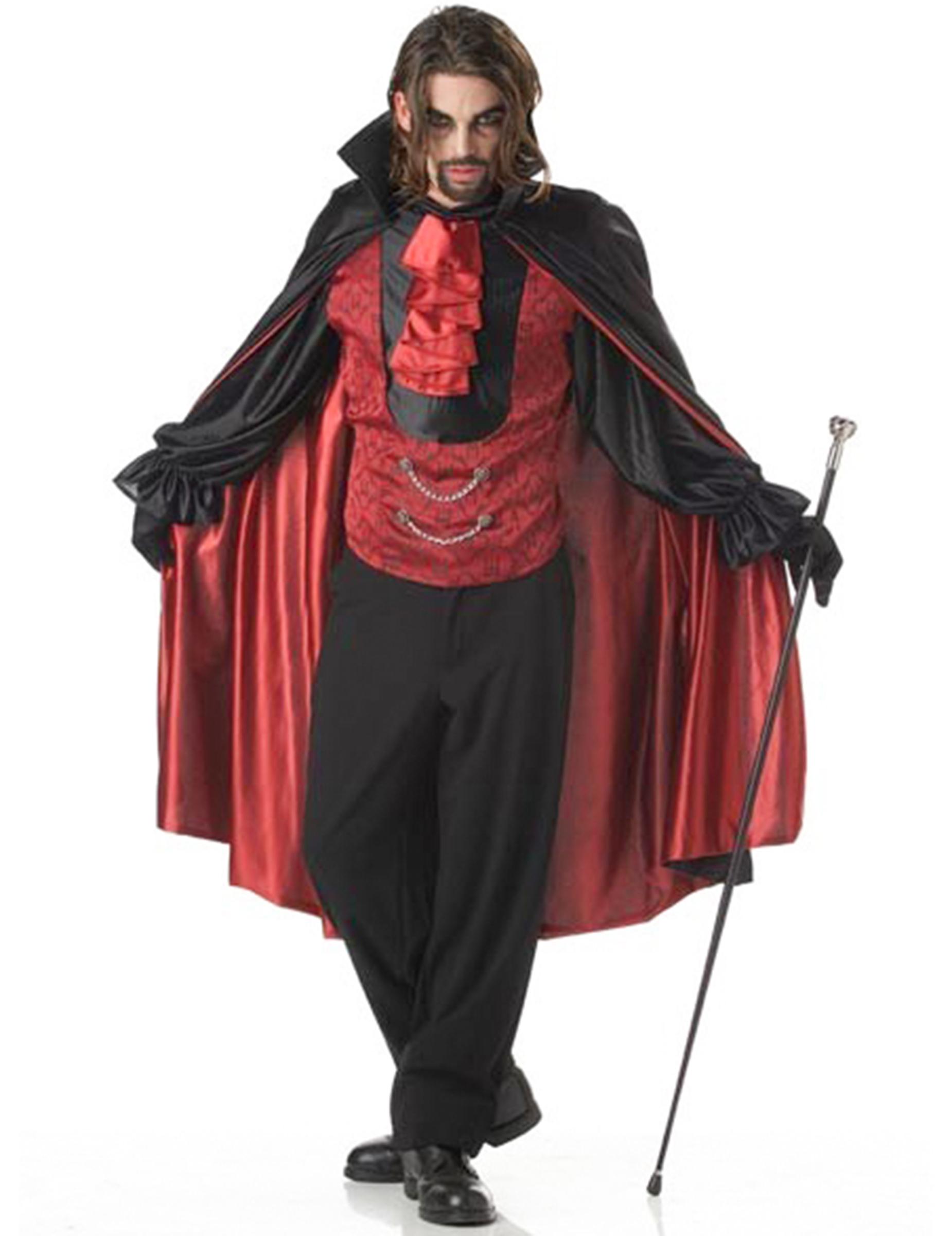 prinz der dunkelheit vampir kost m rot schwarz kost me. Black Bedroom Furniture Sets. Home Design Ideas