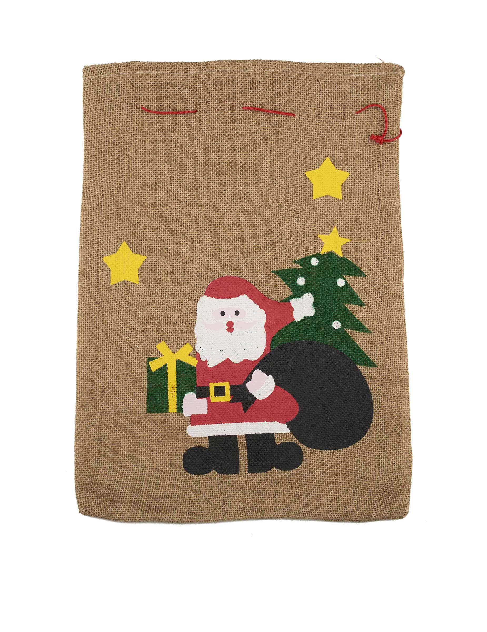 #Jute-Sack für den Weihnachtsmann 50x35cm#