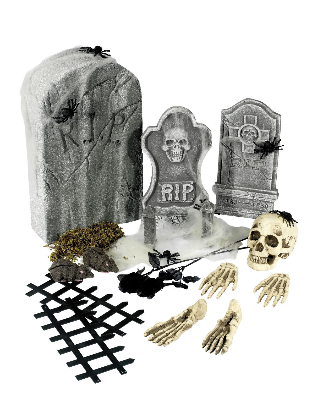 21-teiliges Halloween-Deko-Set bunt 201118