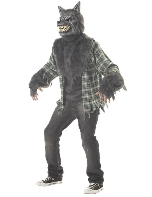 schauriges werwolf kost m grau kost me f r erwachsene und g nstige faschingskost me vegaoo. Black Bedroom Furniture Sets. Home Design Ideas