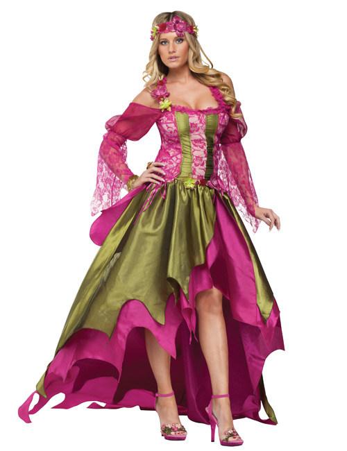 Mittelalter Feenkostüm Für Damen Grün Pink Kostüme Für Erwachsene