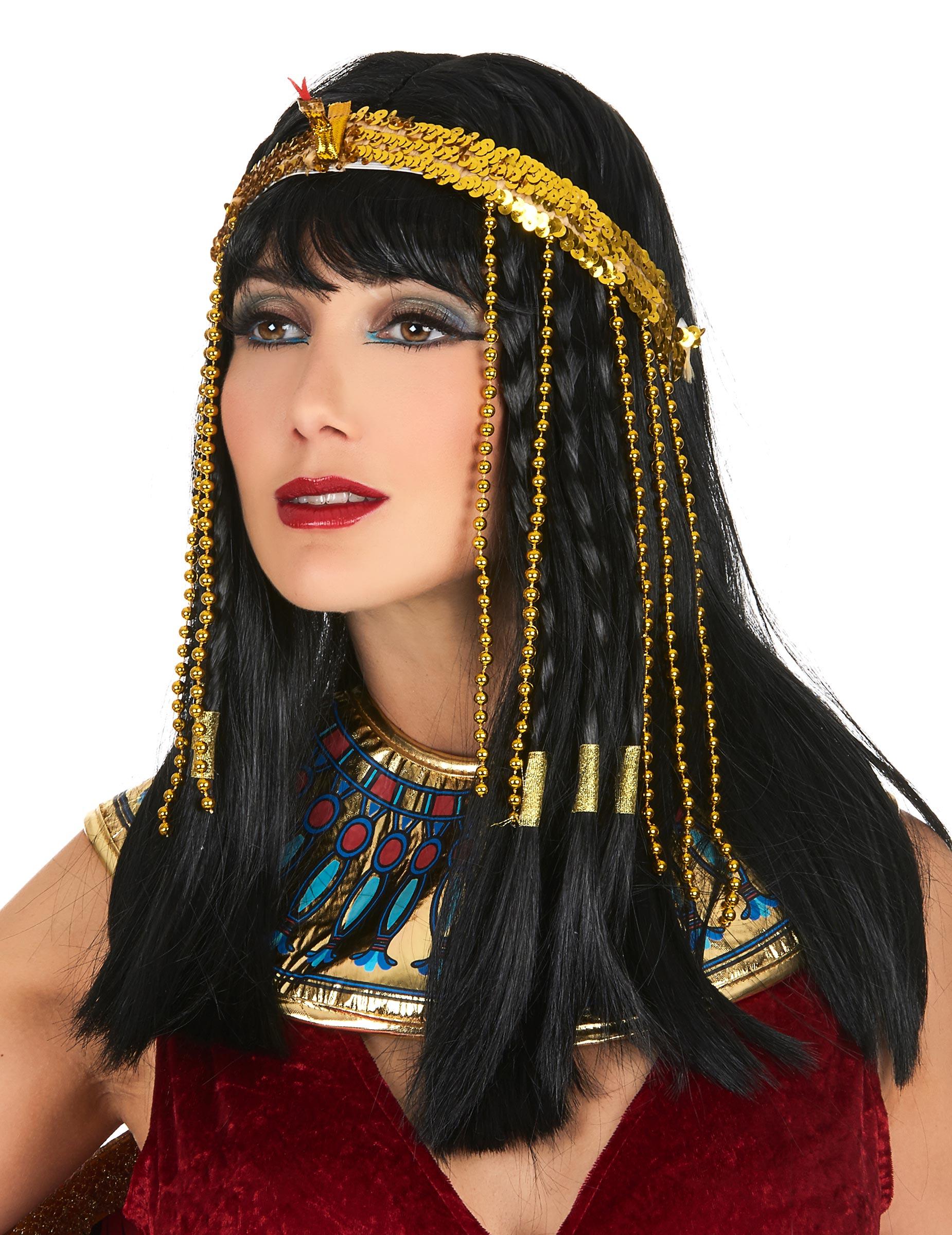 Stirnband Pailletten Goldene Agyptische Schlange Damen Accessoires